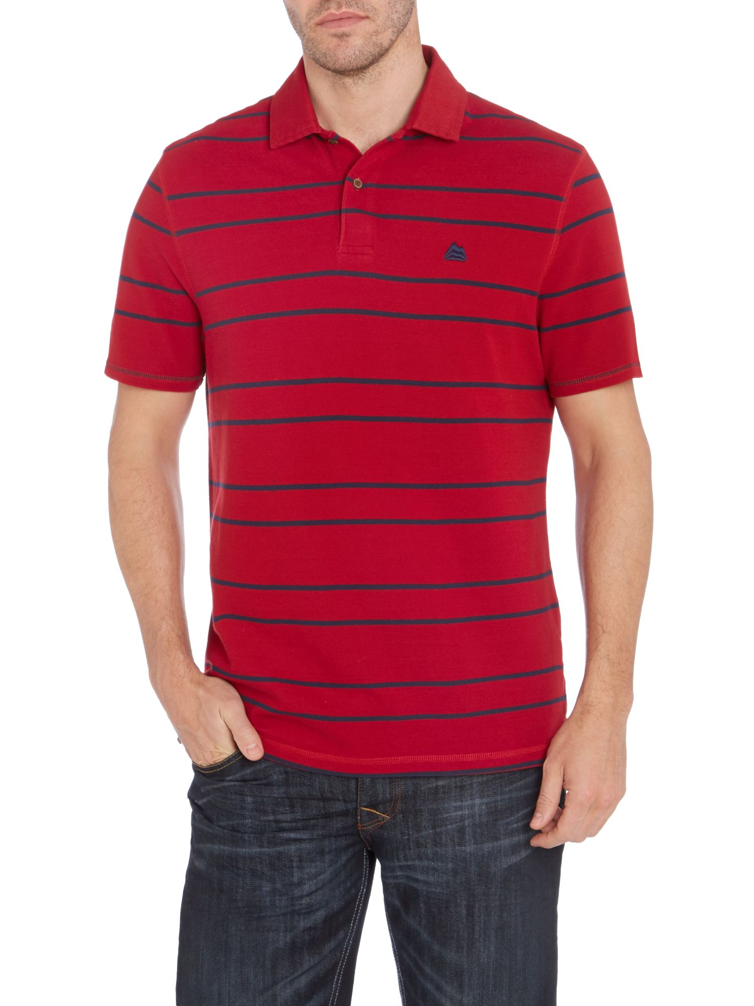 ernest striped polo