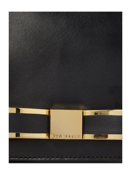 Ted Baker Small black bow leather cross body bag