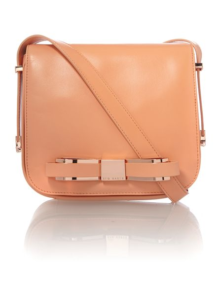 Ted Baker Small orange bow leather cross body bag