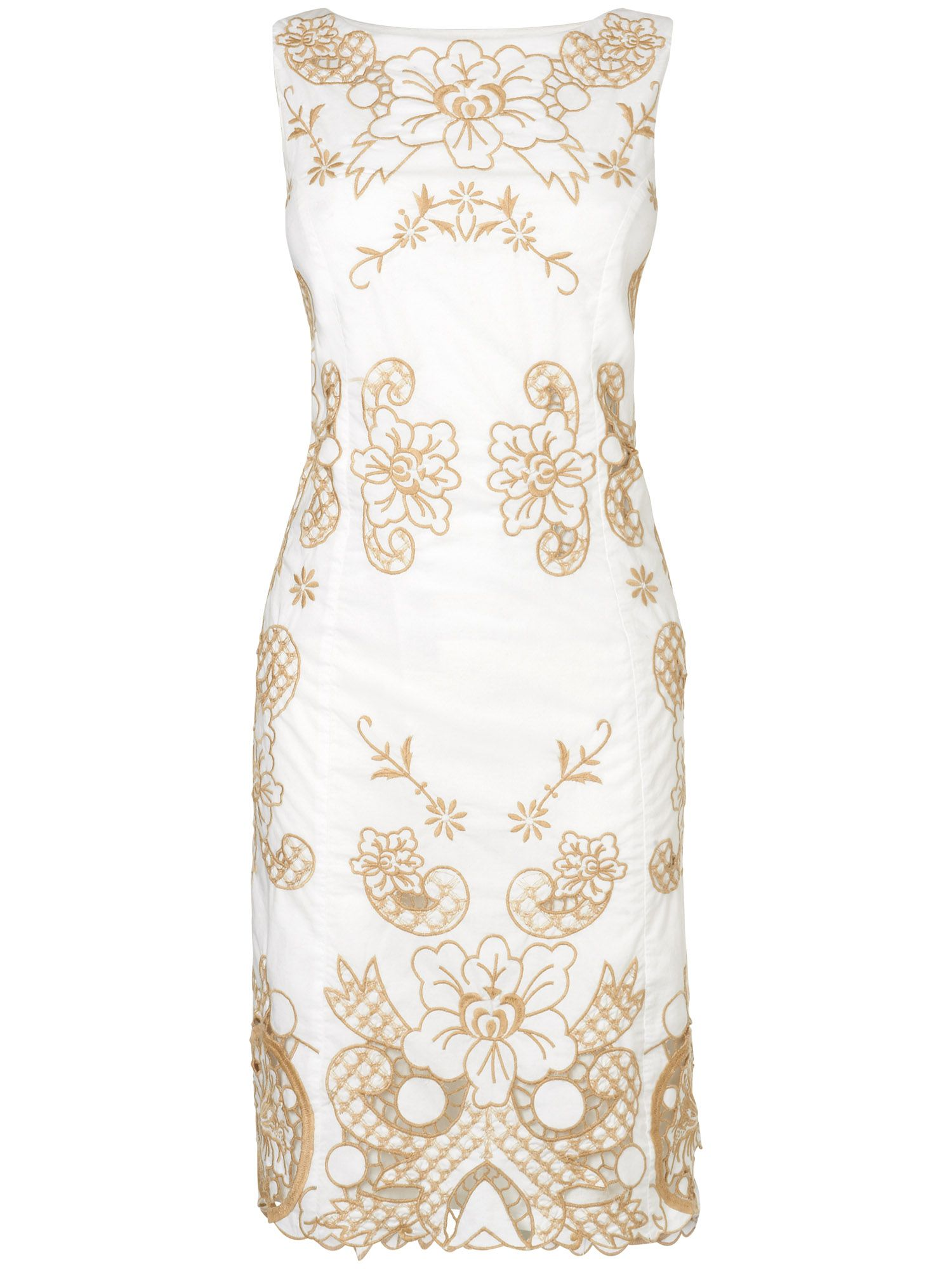 Audrey embroidered shift dress