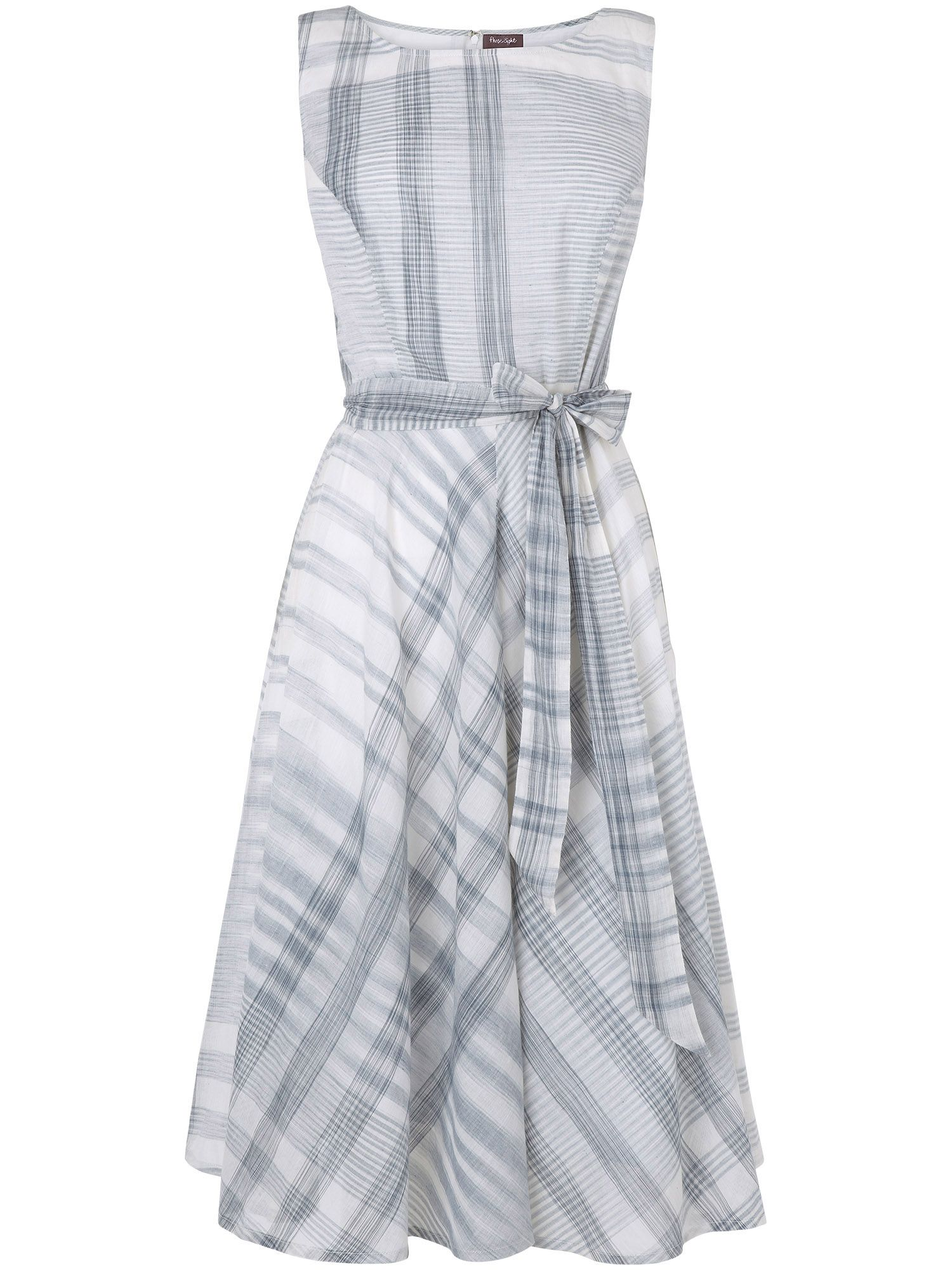 Renee check fit and flare dress