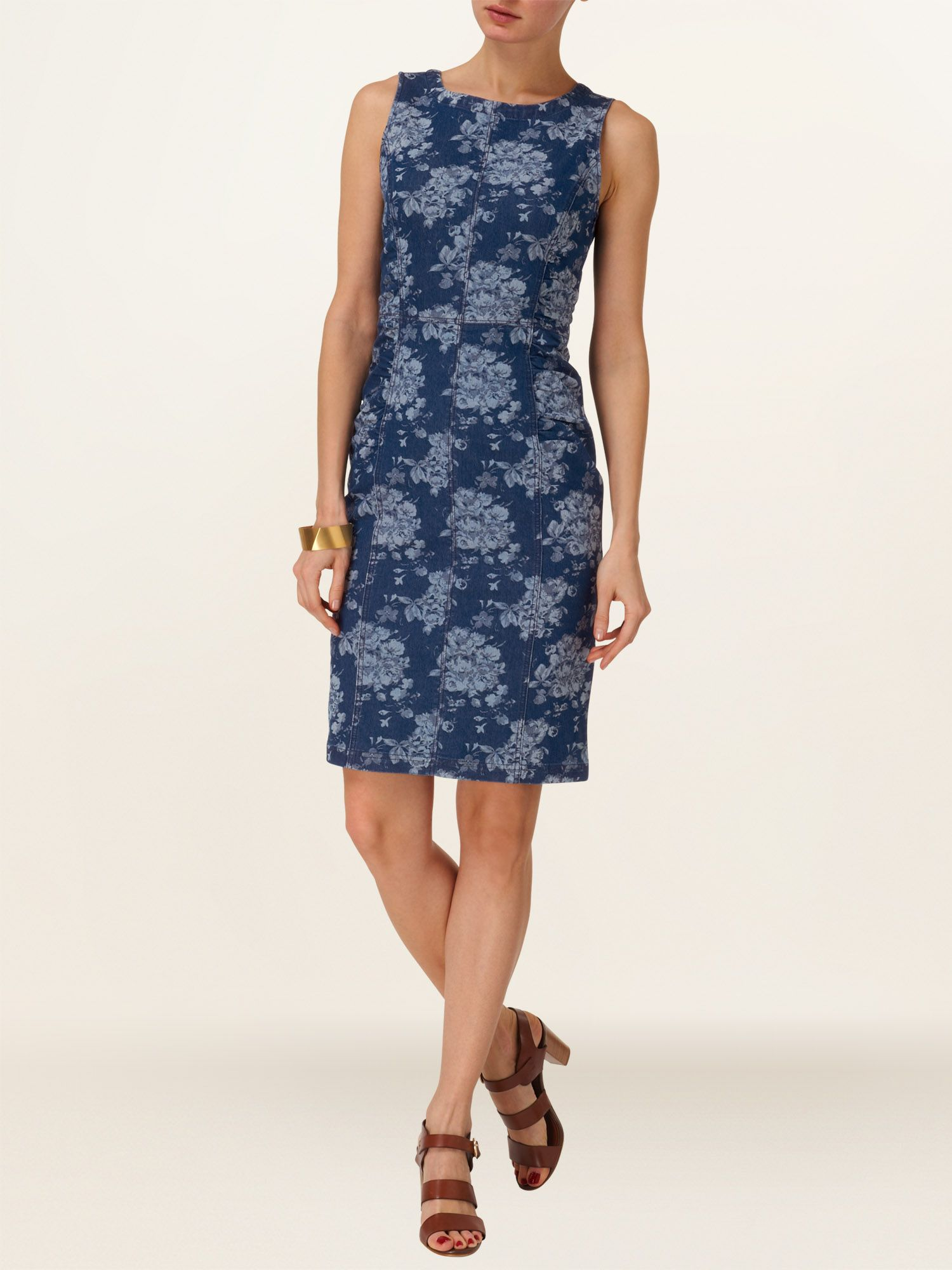 Lola floral denim dress