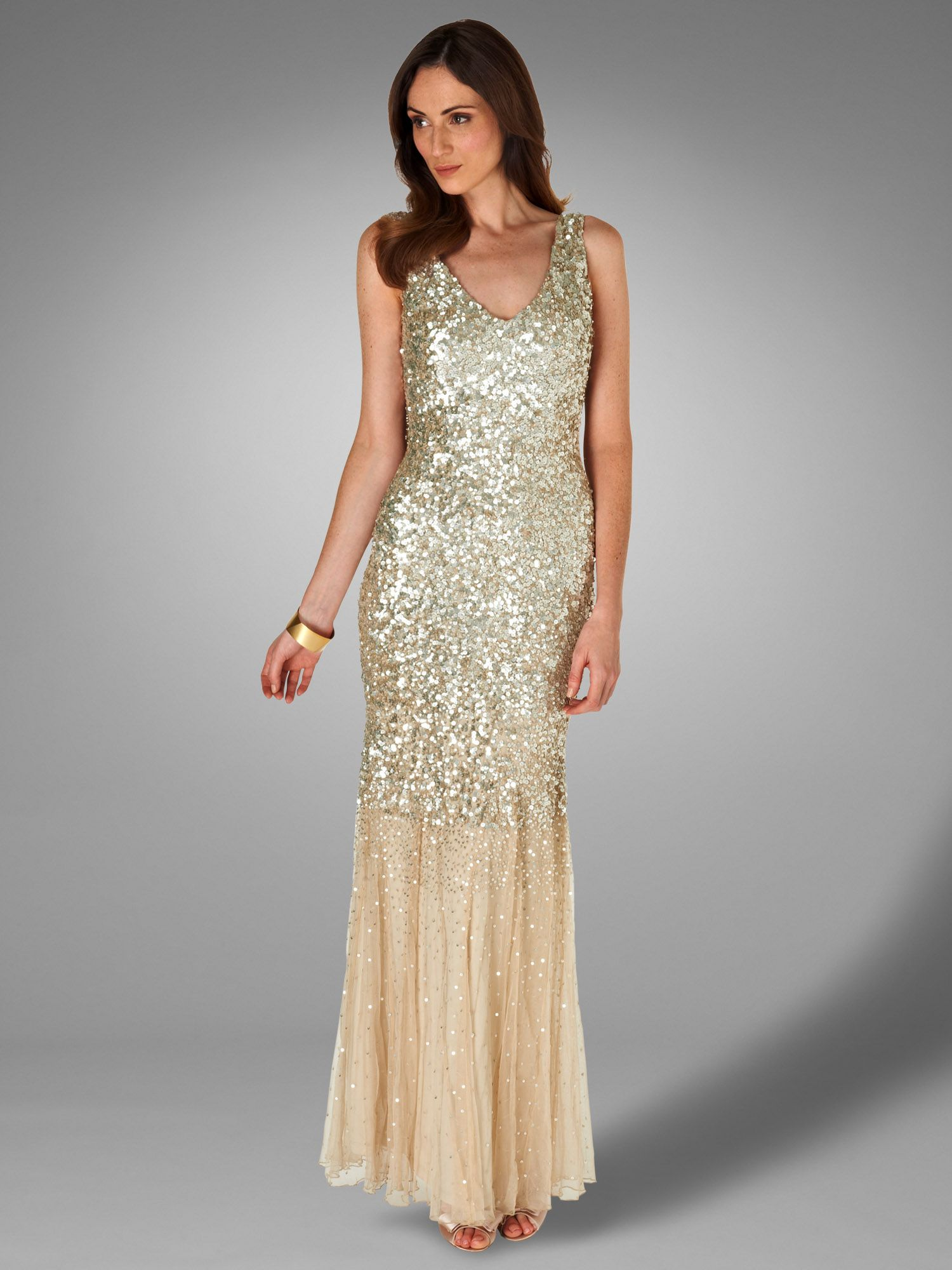 Luna sequin full length dress