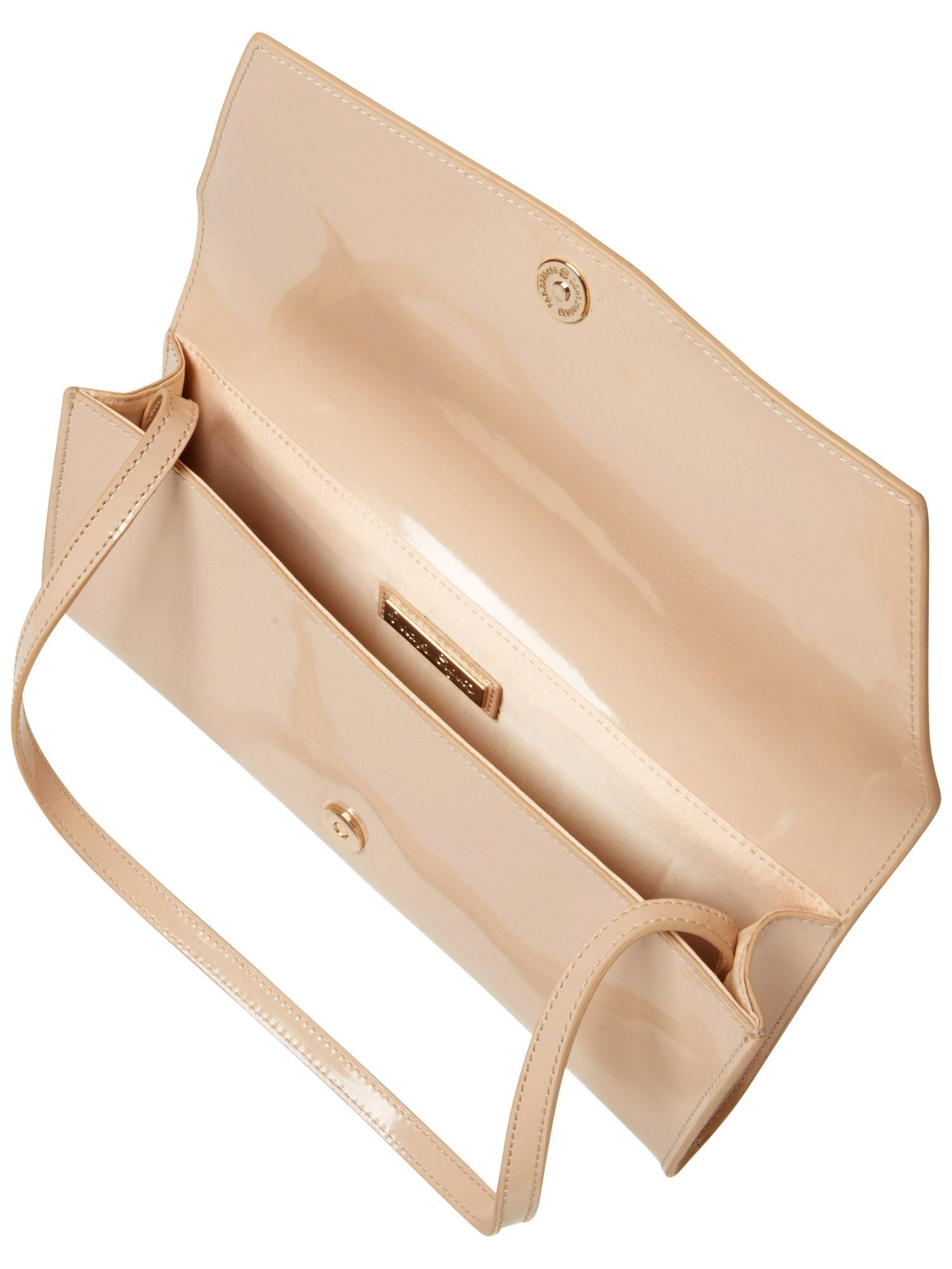 Suzie patent leather clutch bag