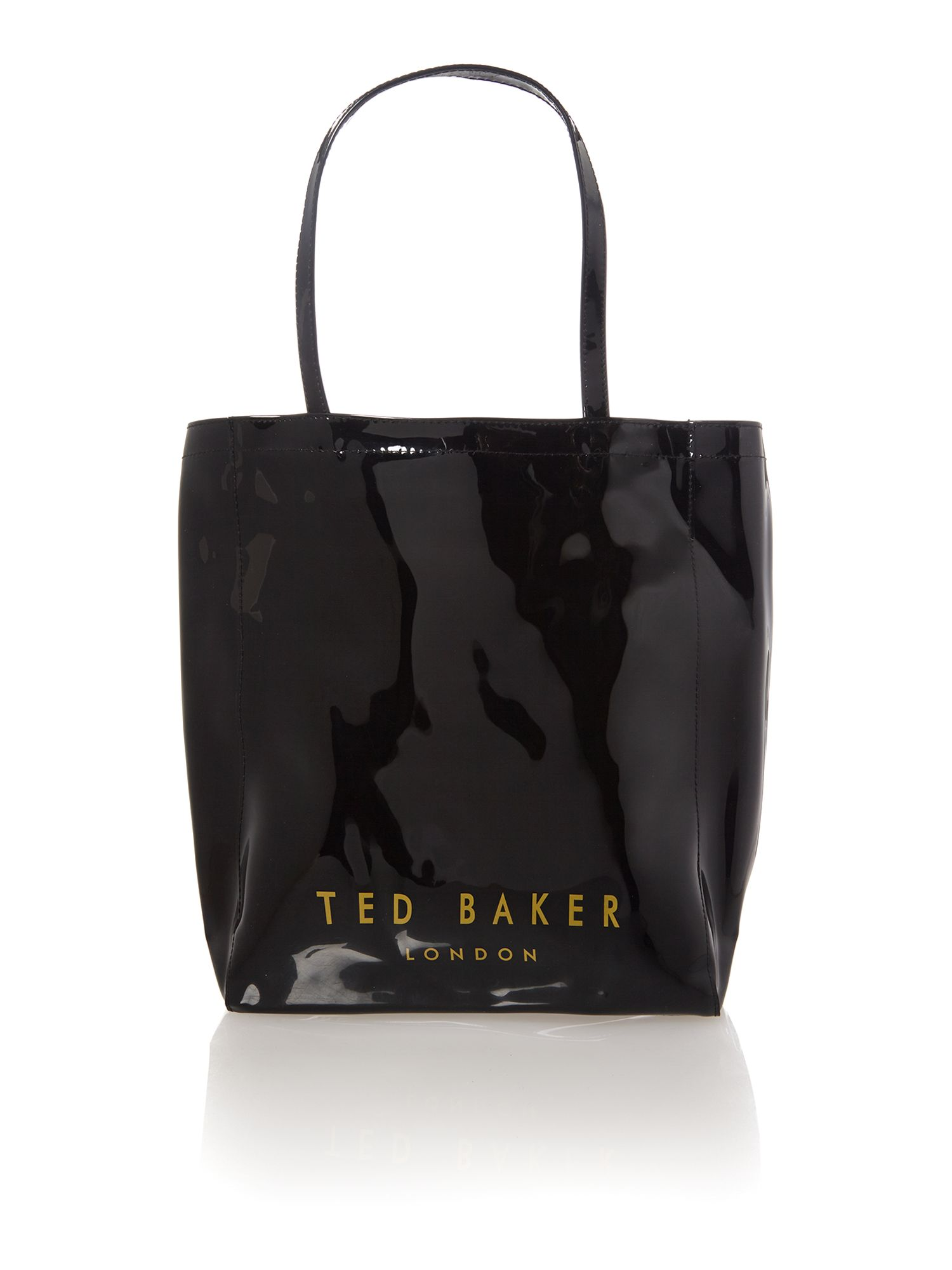 Large black bowcon tote bag