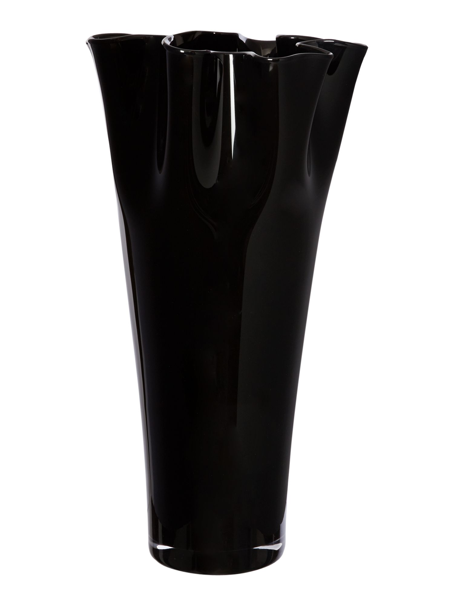 Large handkerchief vase, black
