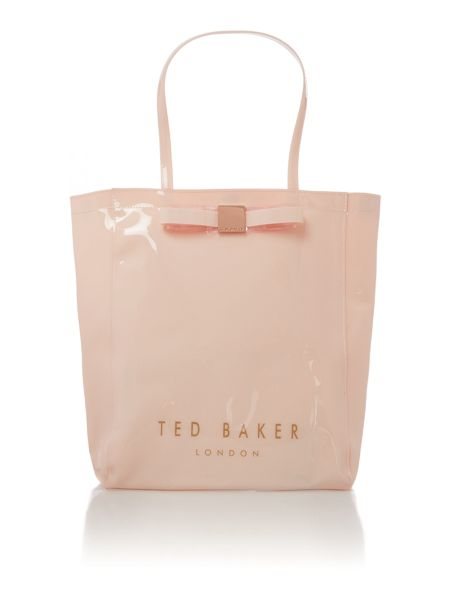 Ted Baker Large nude bowcon tote bag
