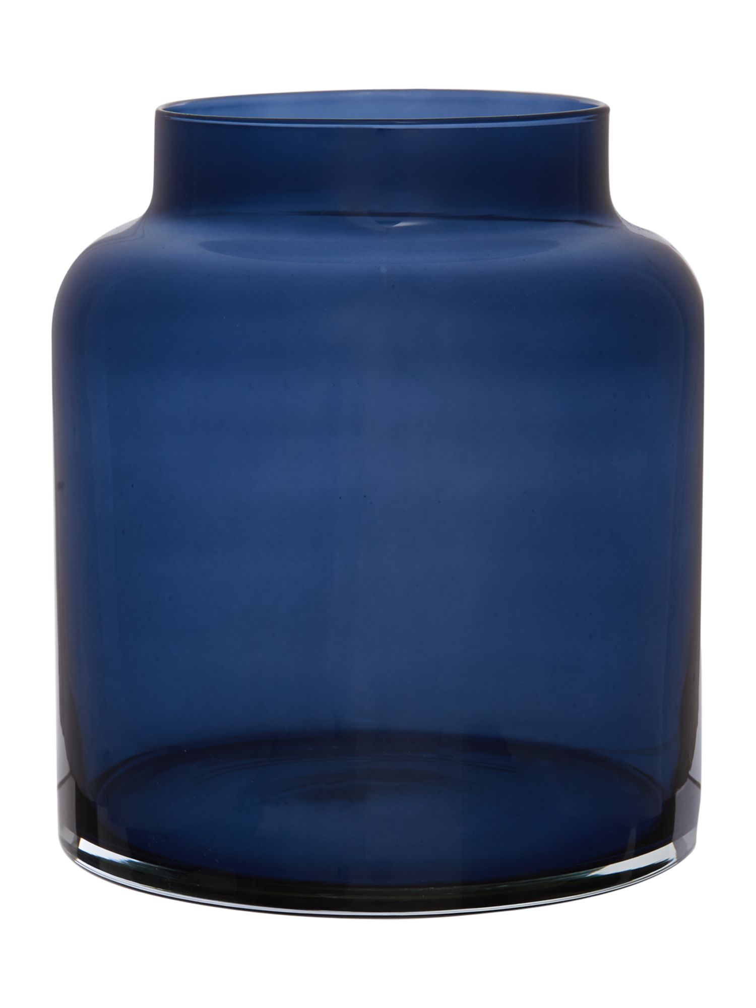Navy glass small vase