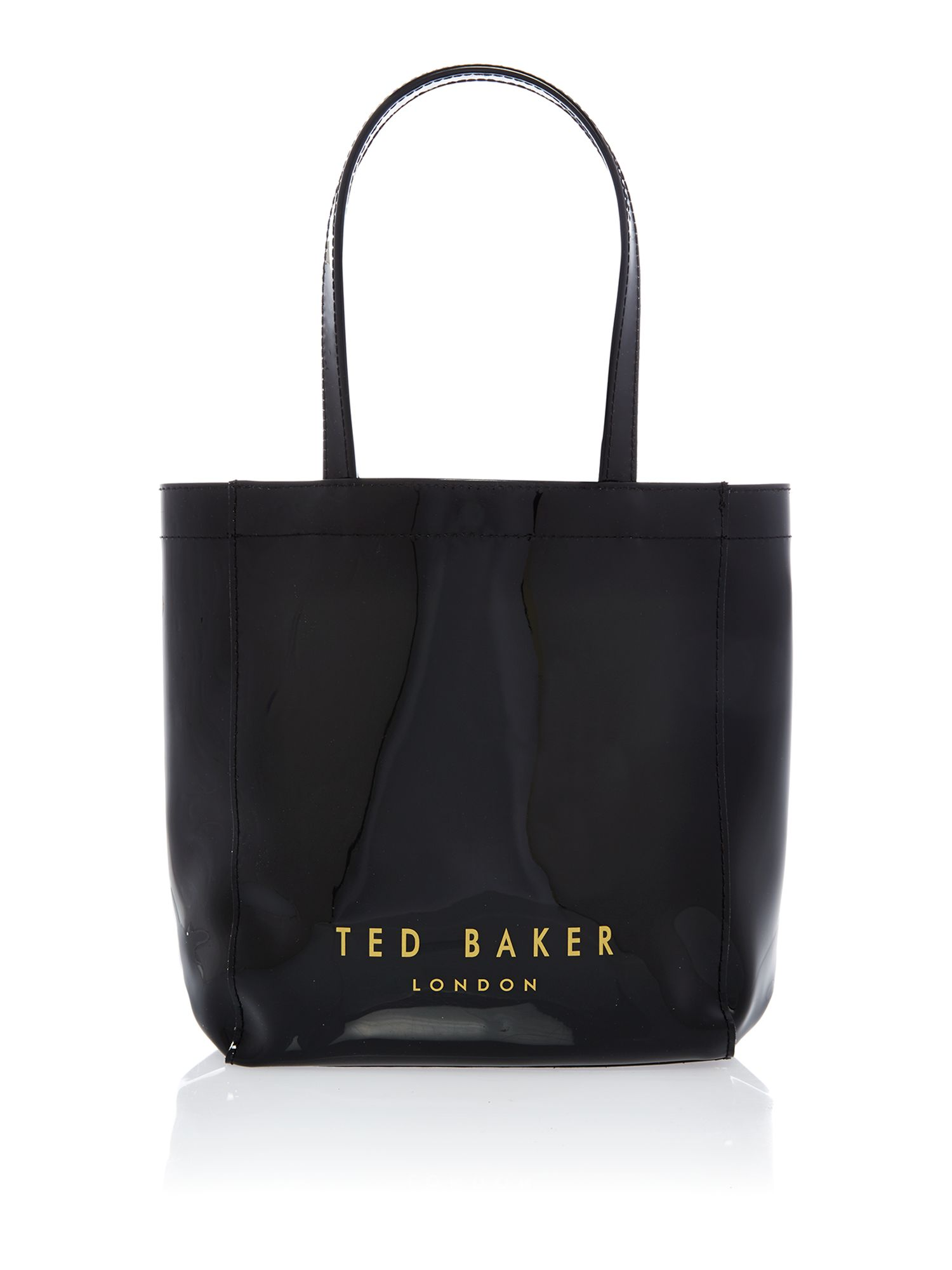 Small black bowcon tote bag