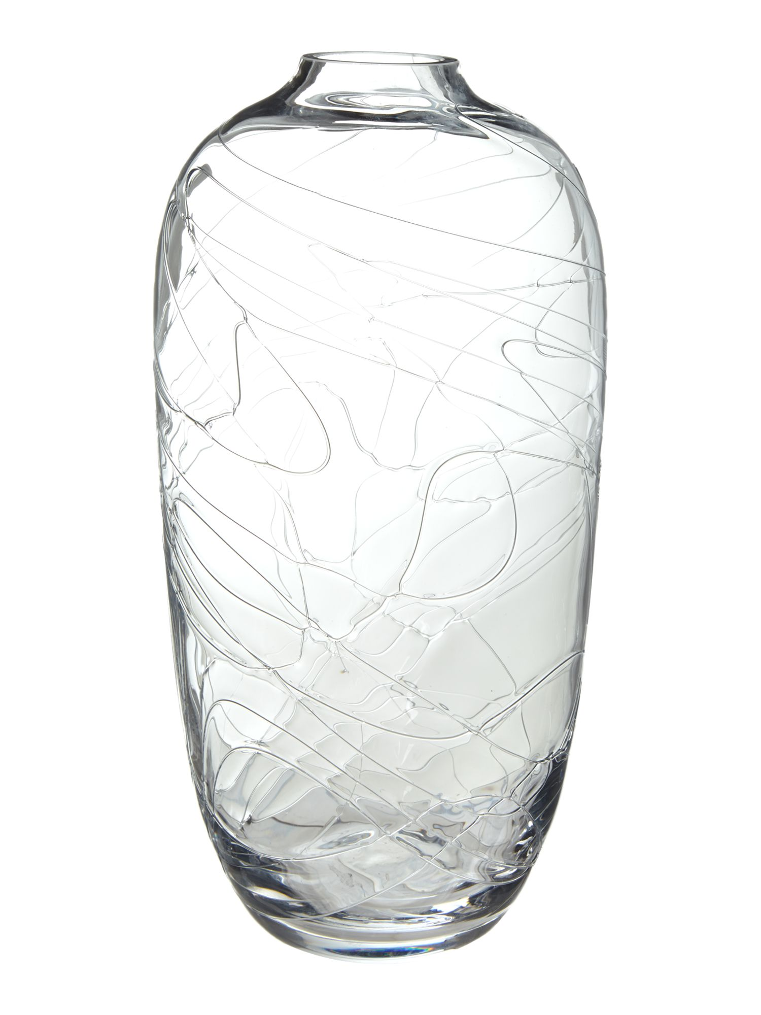 Clear swirl small vase