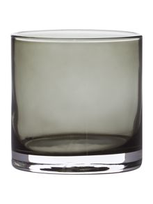 Smoke lustre tealight holder