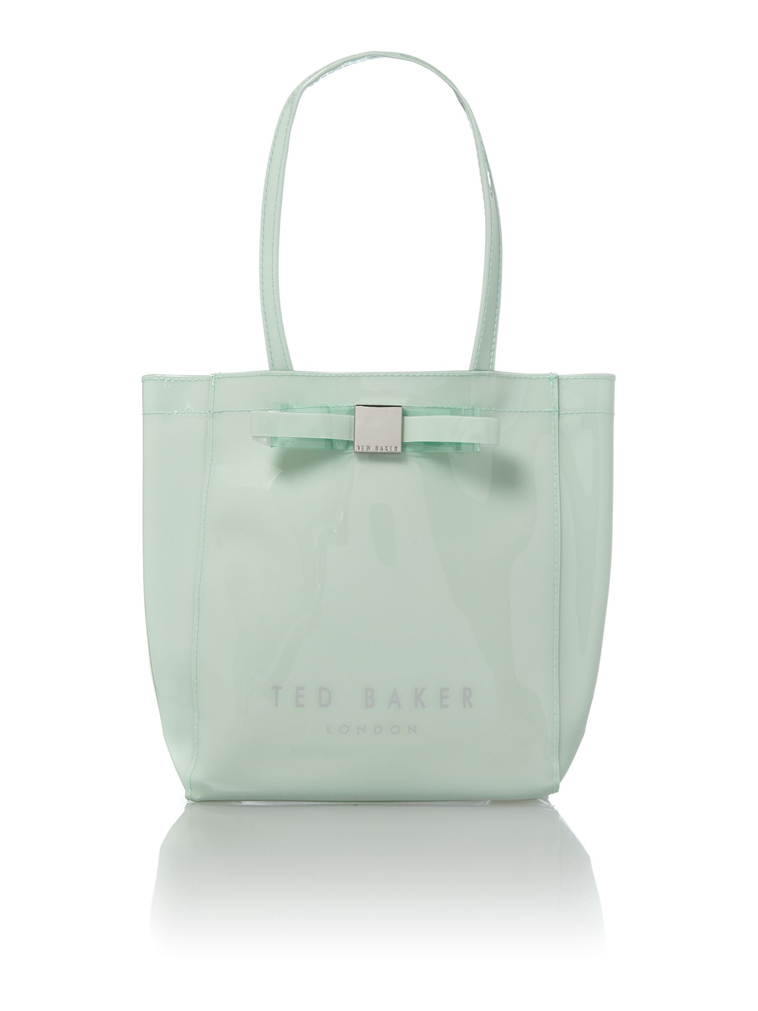 Small green bowcon tote bag