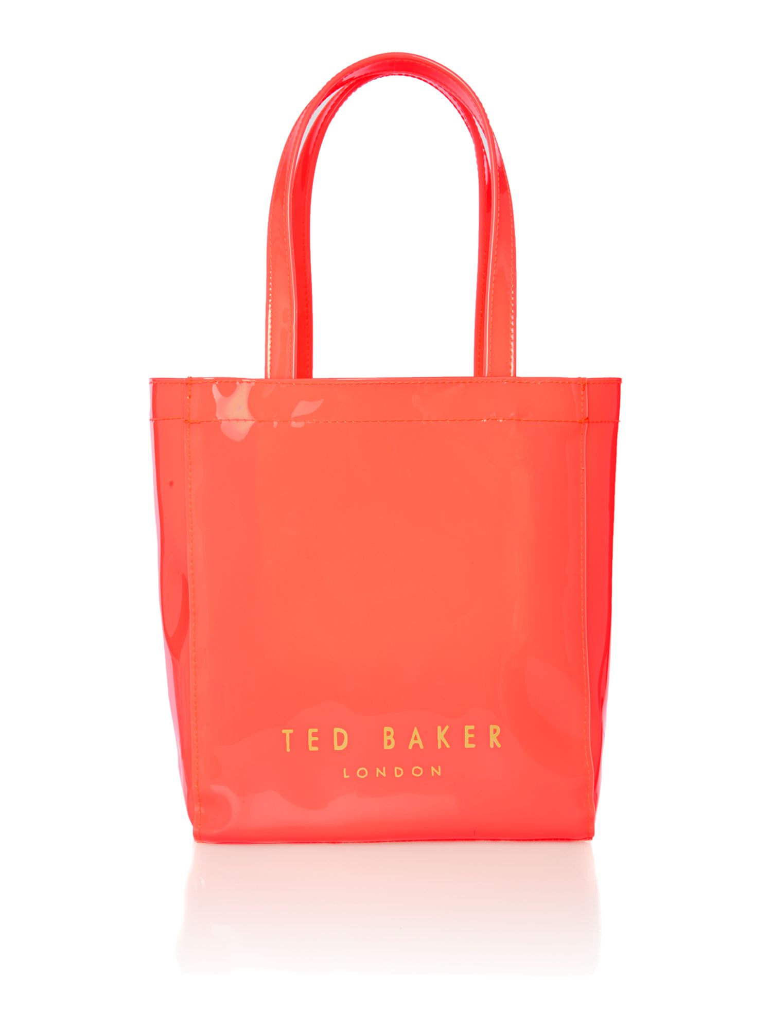 Small pink bowcon tote bag