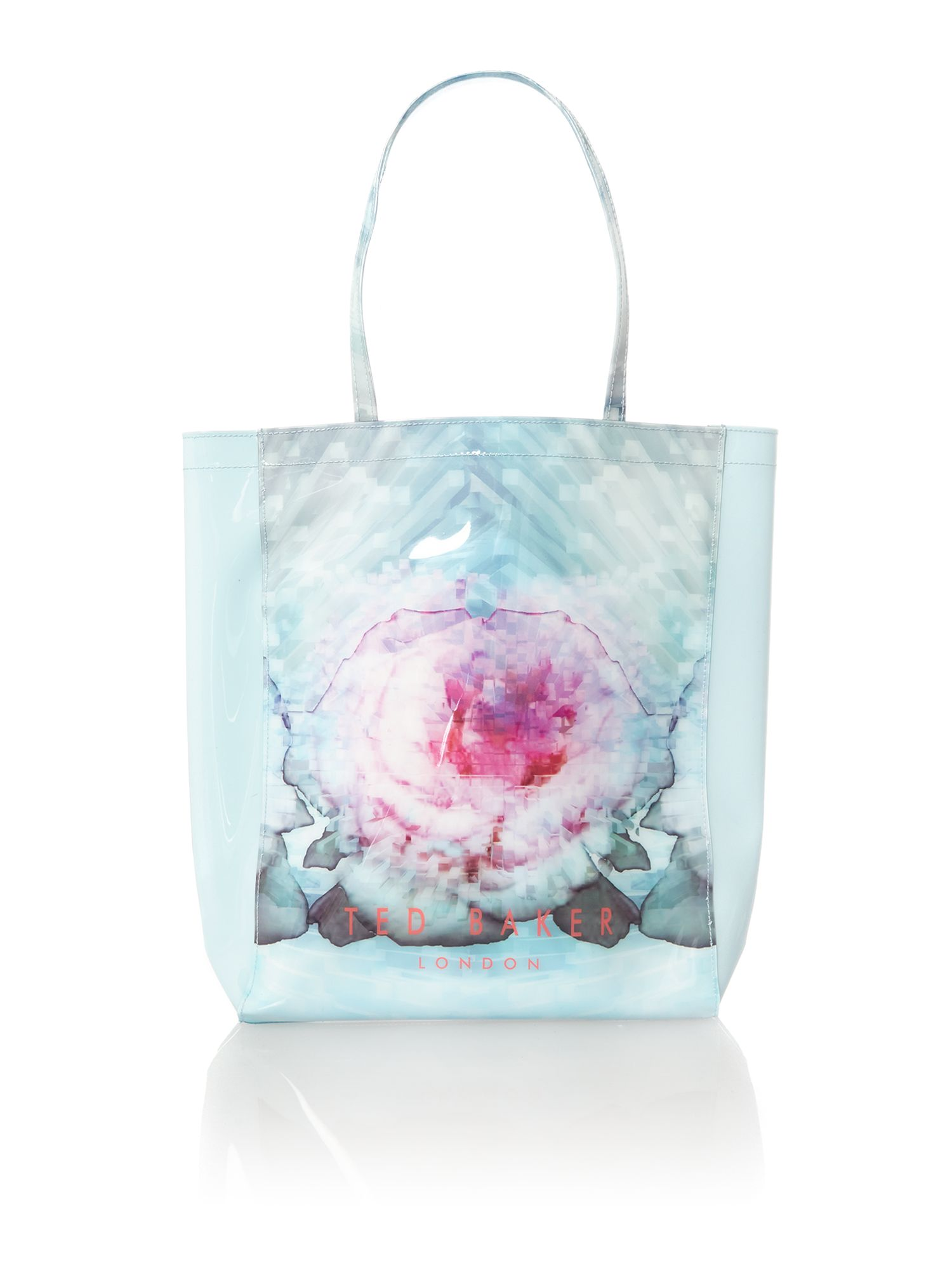 Large blue exclusive bowcon tote bag