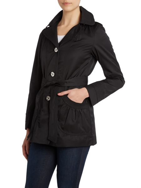 Halifax Traders Belted Button Hooded Mac