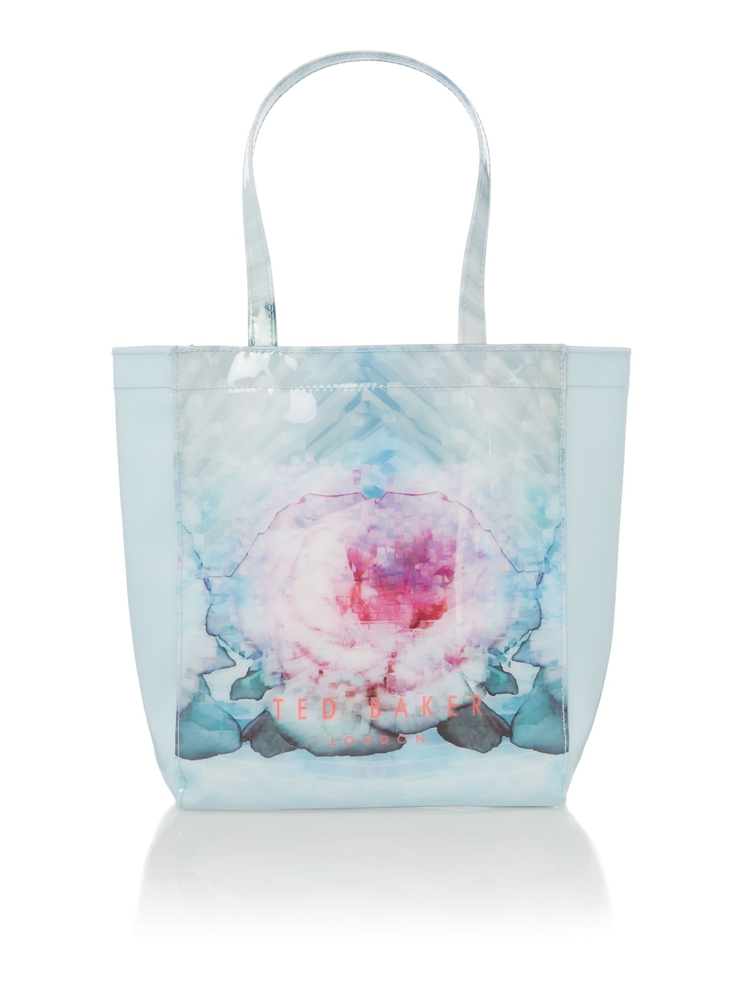 Small blue exclusive bowcon tote bag