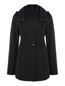 Zip Up Hooded Coat