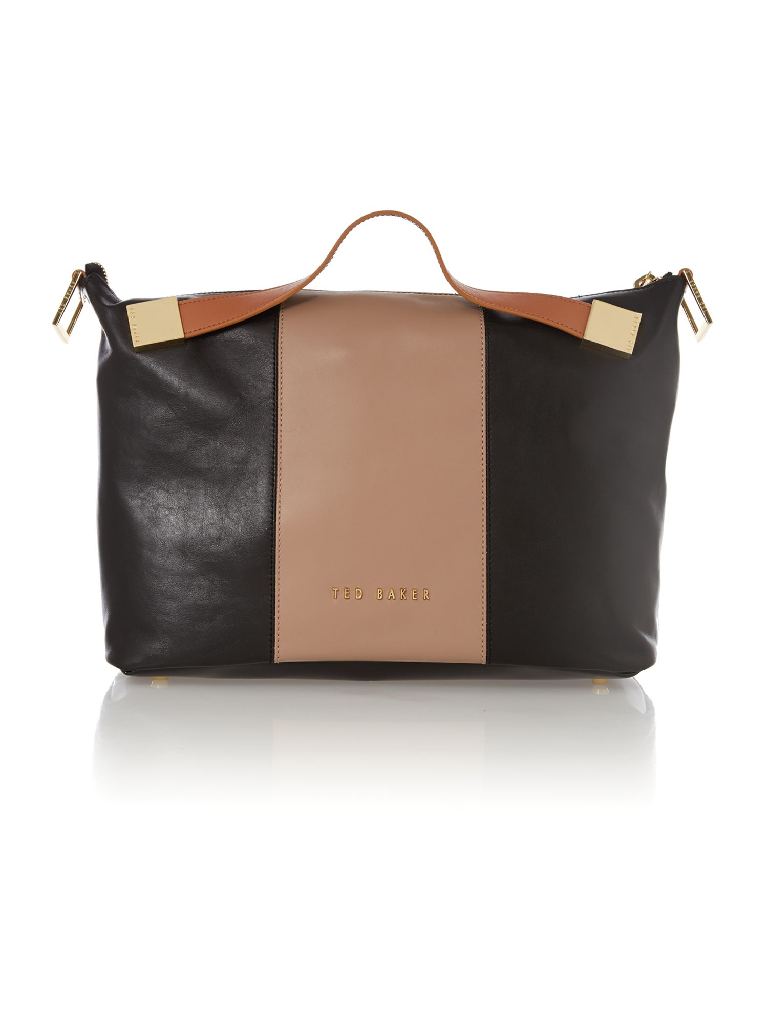 Large black and nude tote bag