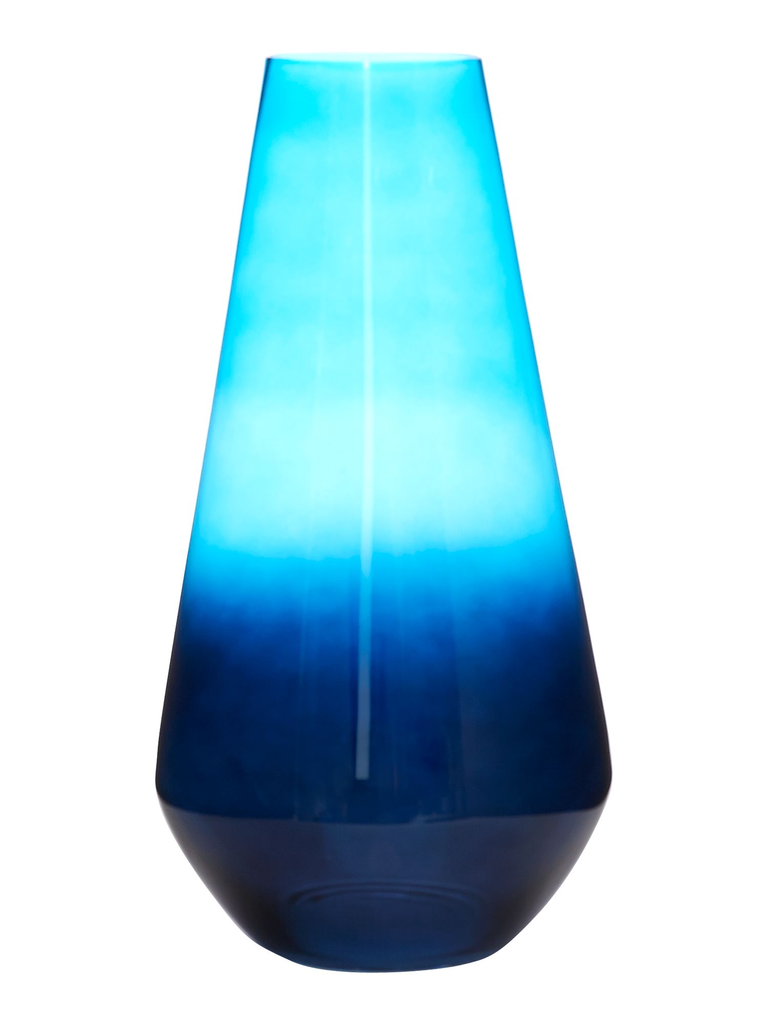 Blue iced large vase