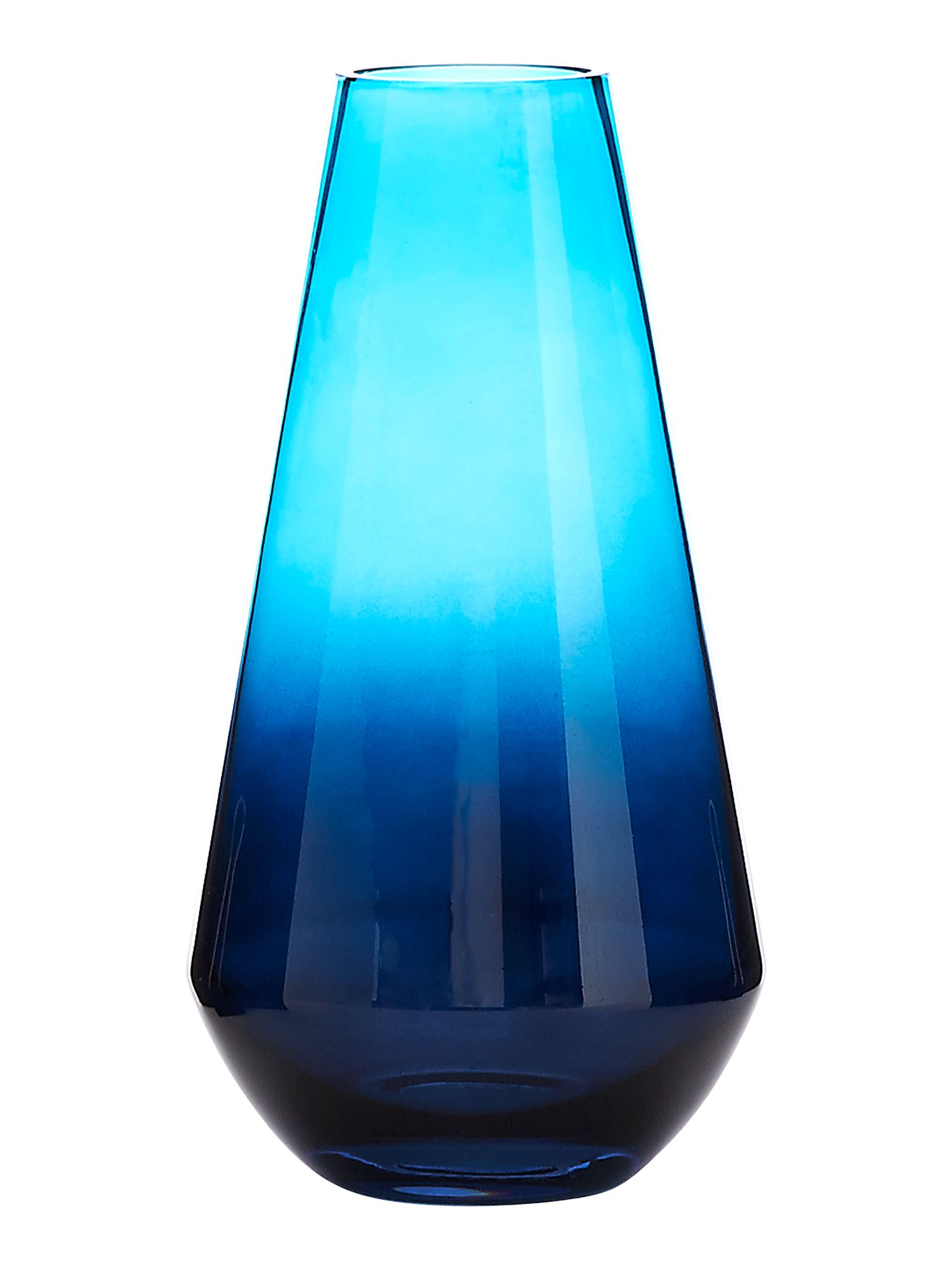 Blue iced medium vase