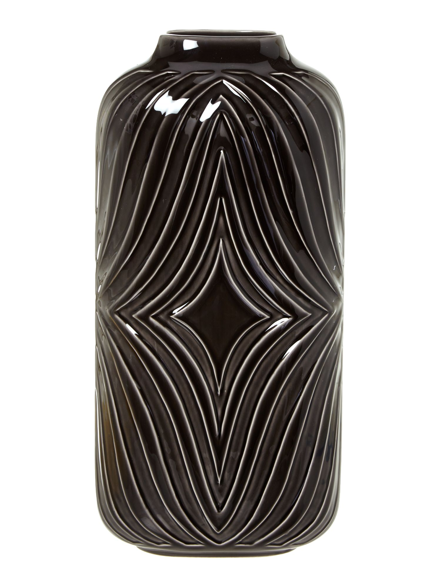 Black ceramic large vase