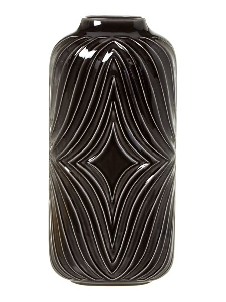 Living by Christiane Lemieux Black ceramic large vase