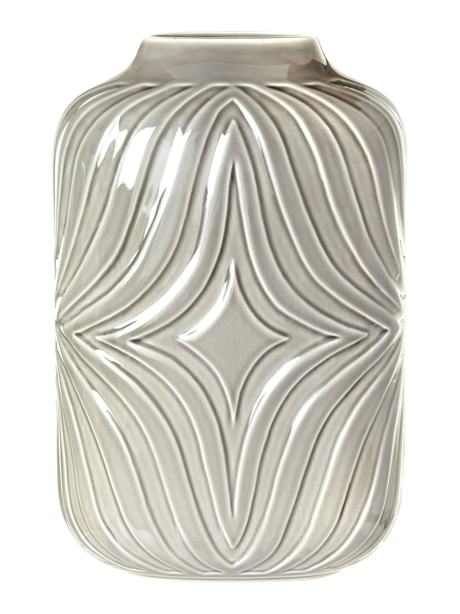 Grey ceramic vase, medium