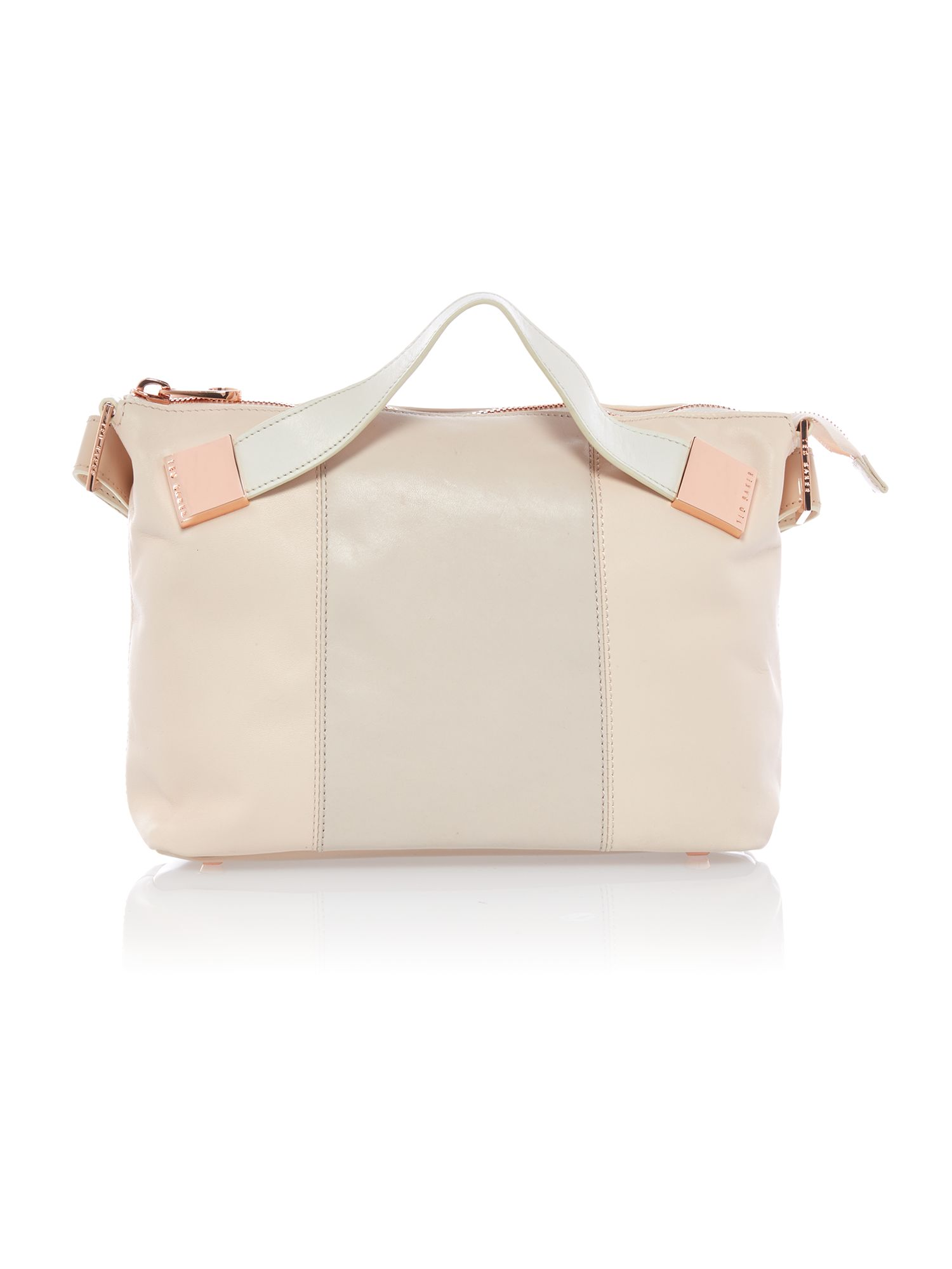 Medium nude and pink tote bag