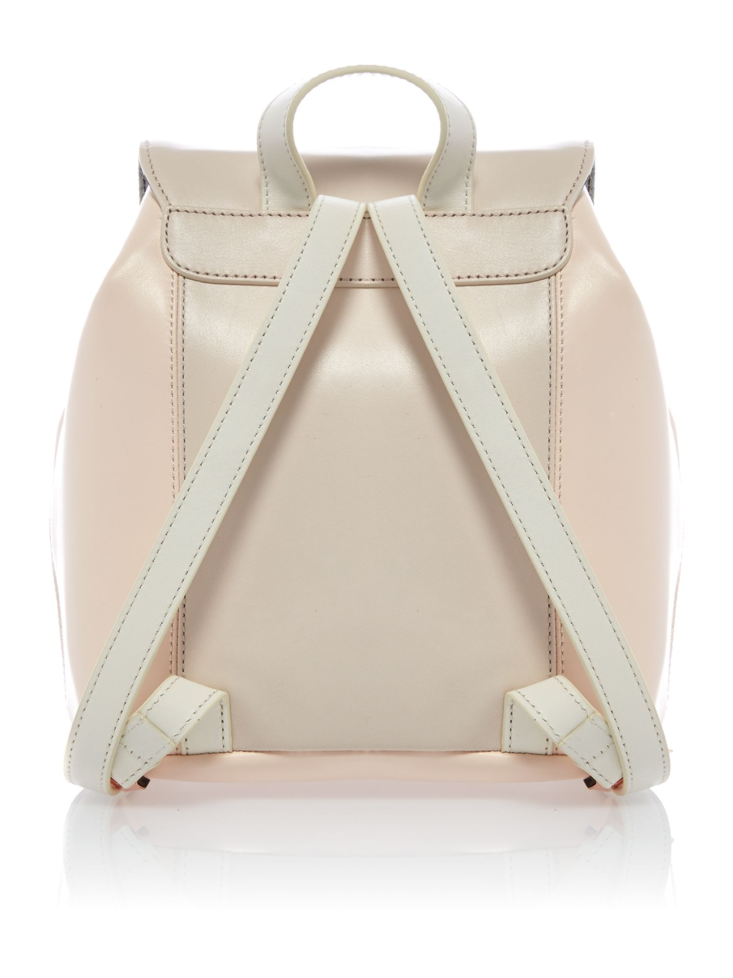 Small nude and cream backpack