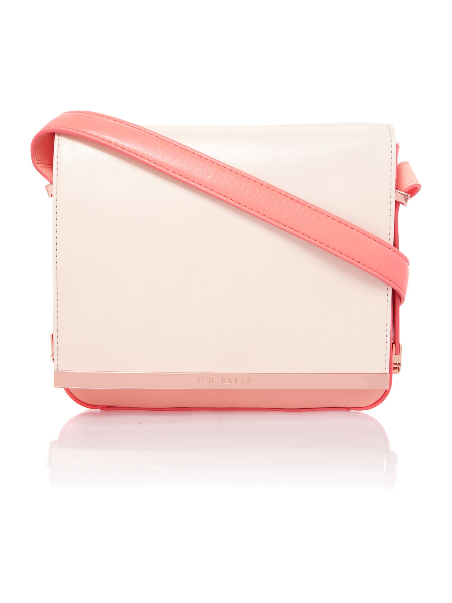 Small nude and pink cross body bag