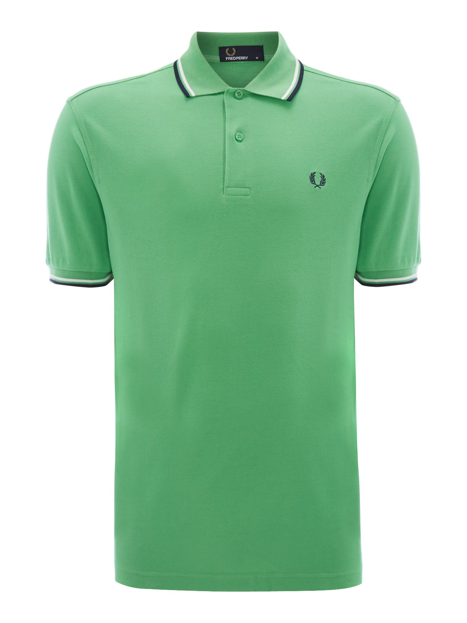 Men&39s Fred Perry Classic regular fit twin tipped polo shirt Green