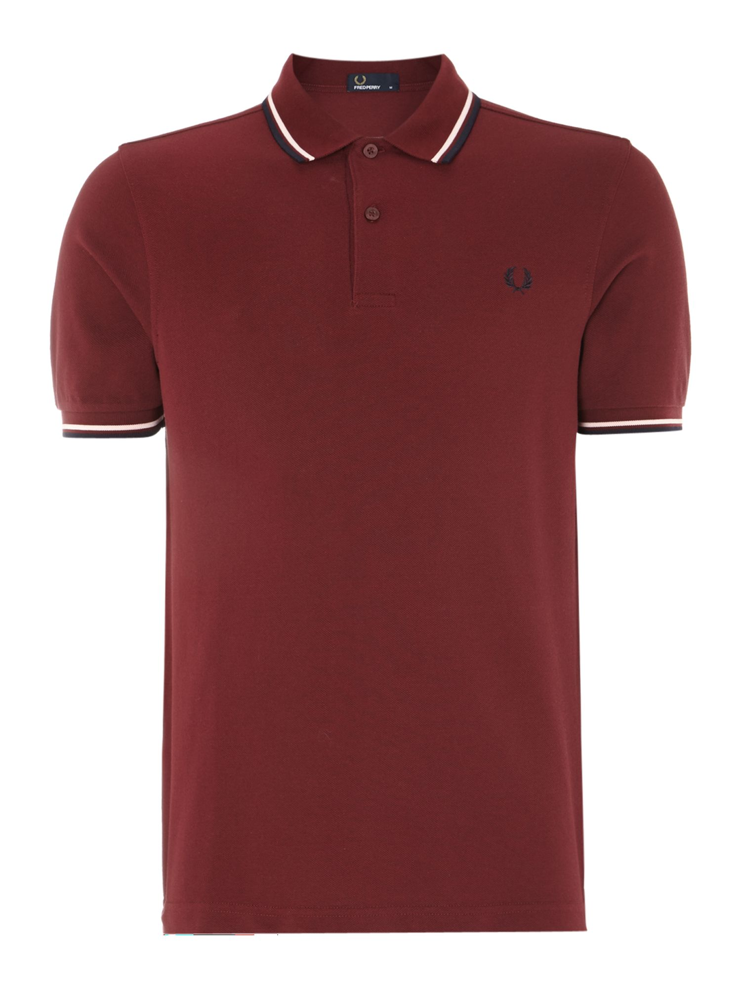 Men&39s Fred Perry Classic regular fit twin tipped polo shirt Port