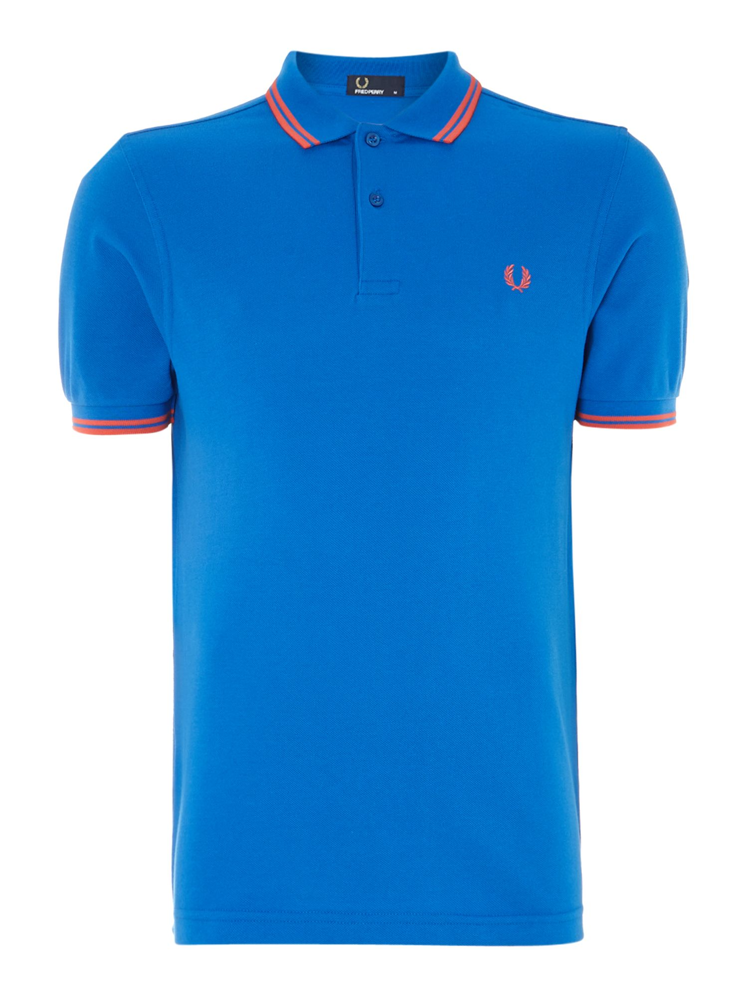 Classic regular fit twin tipped polo shirt