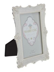 Scalloped design enamel photo frame 4x6