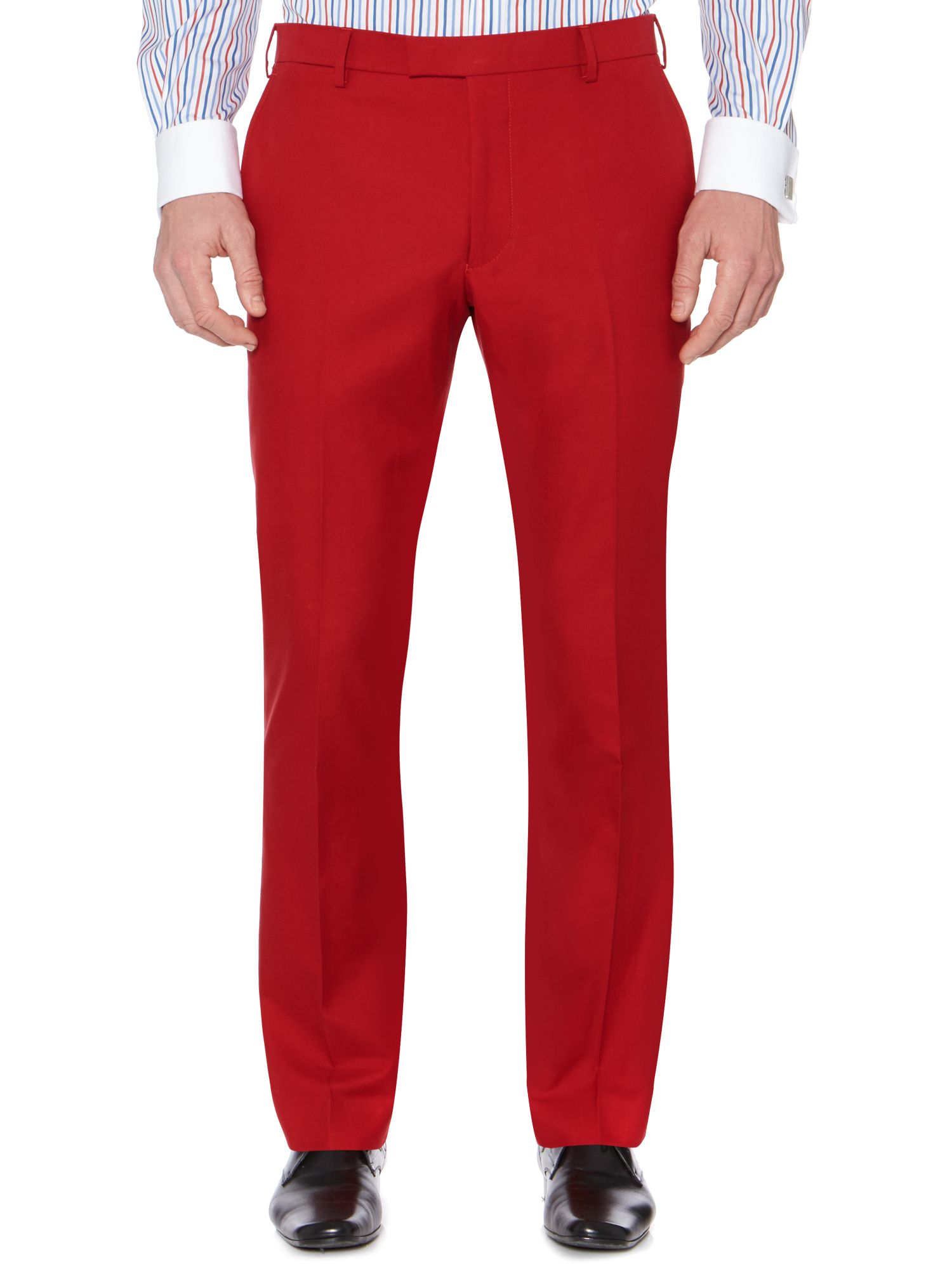 Keeker Slim Leg Cotton Satin Trousers