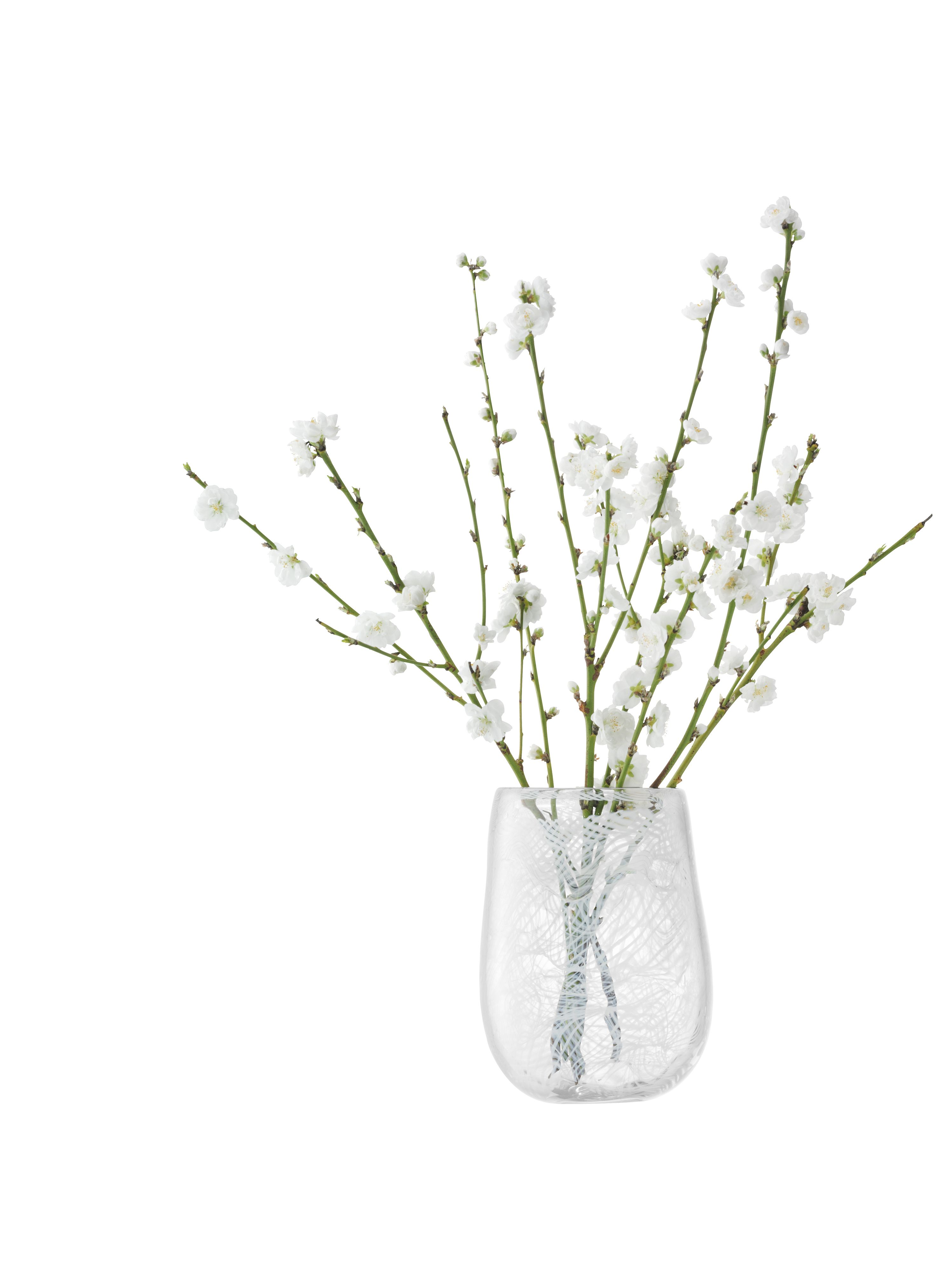 Cotton vase height 23cm in white