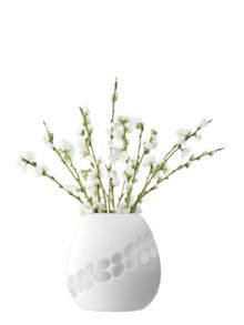 Lace vase height 19.5cm in white