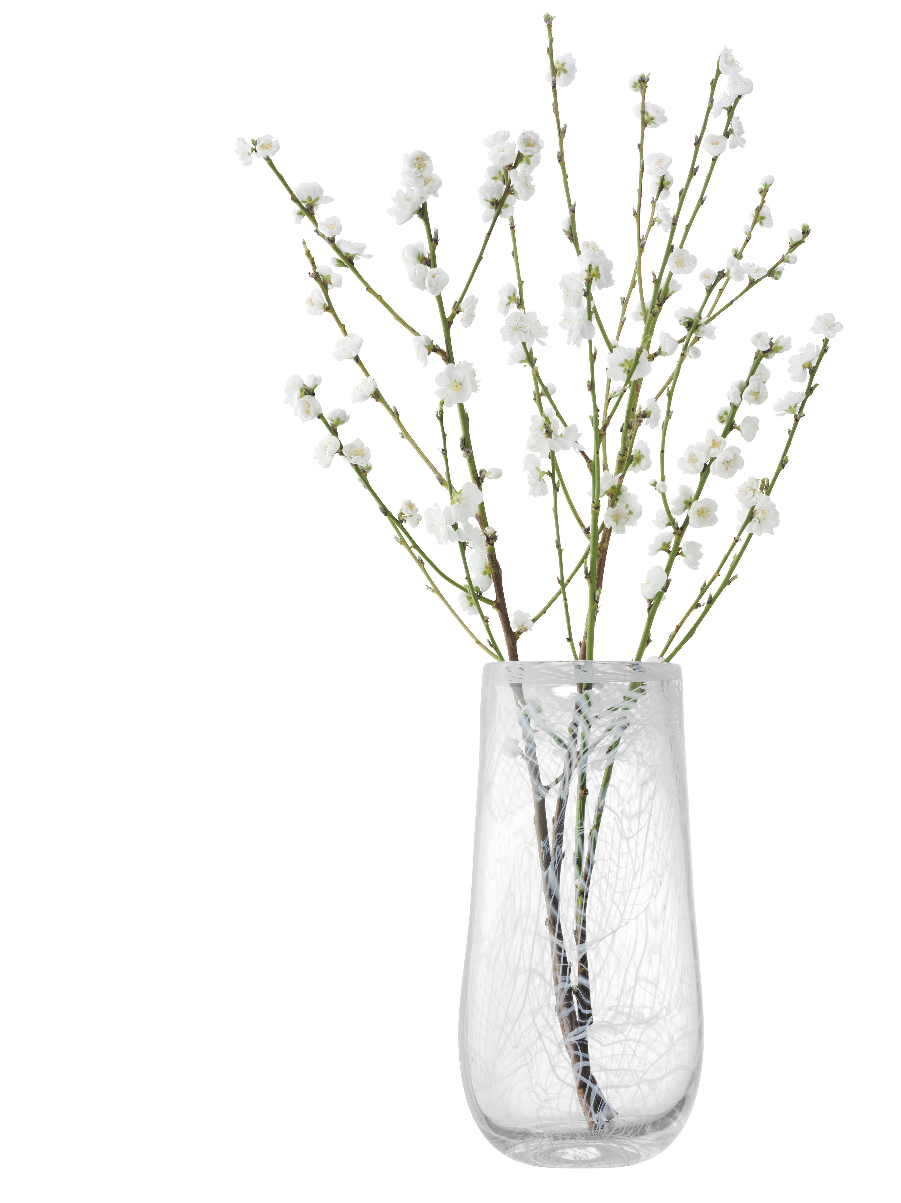 Cotton vase height 38cm in white