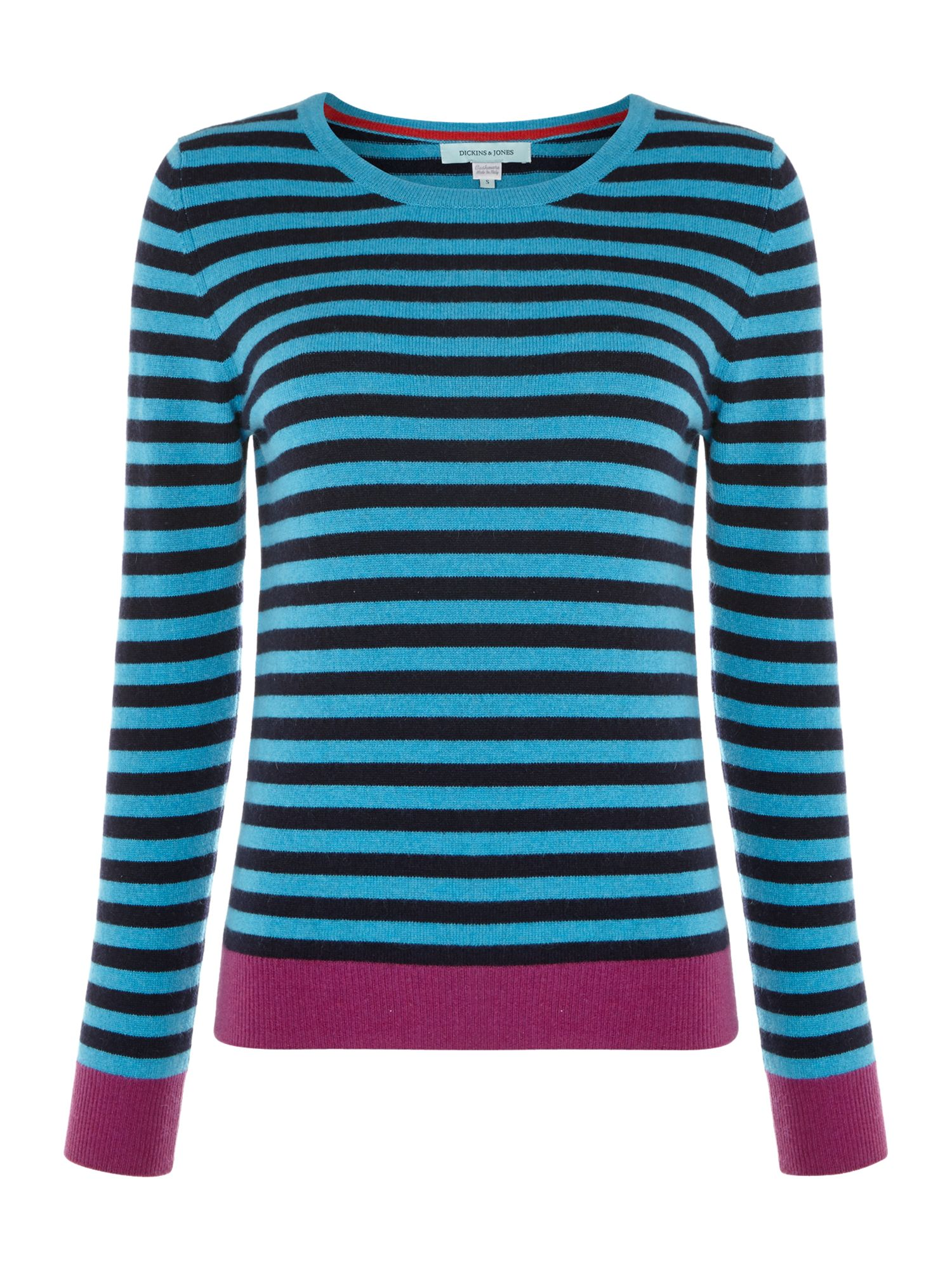 Cashmere stripe knit jumper