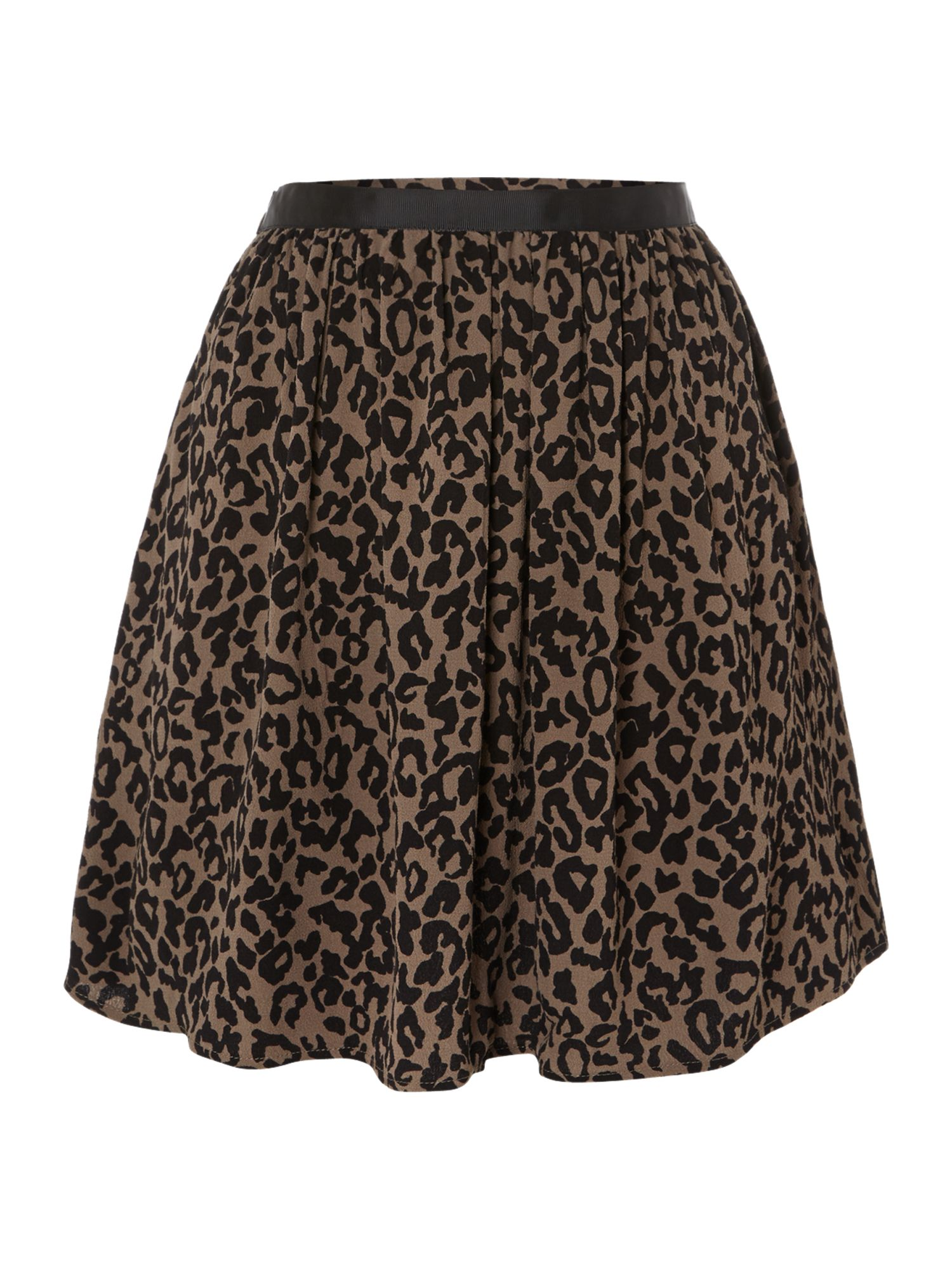 Mini leopard skater skirt