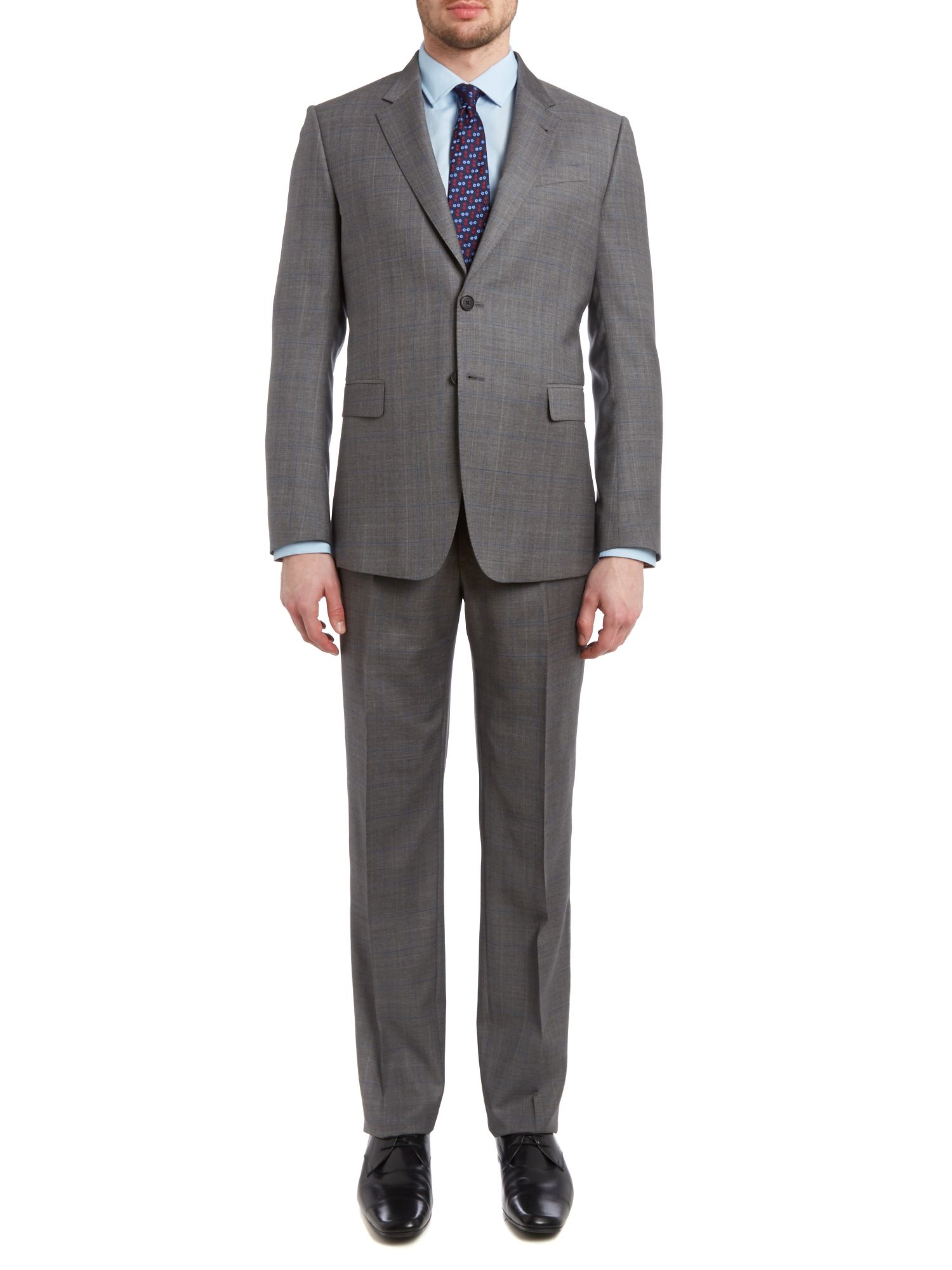 Byard slim fit shadow check suit