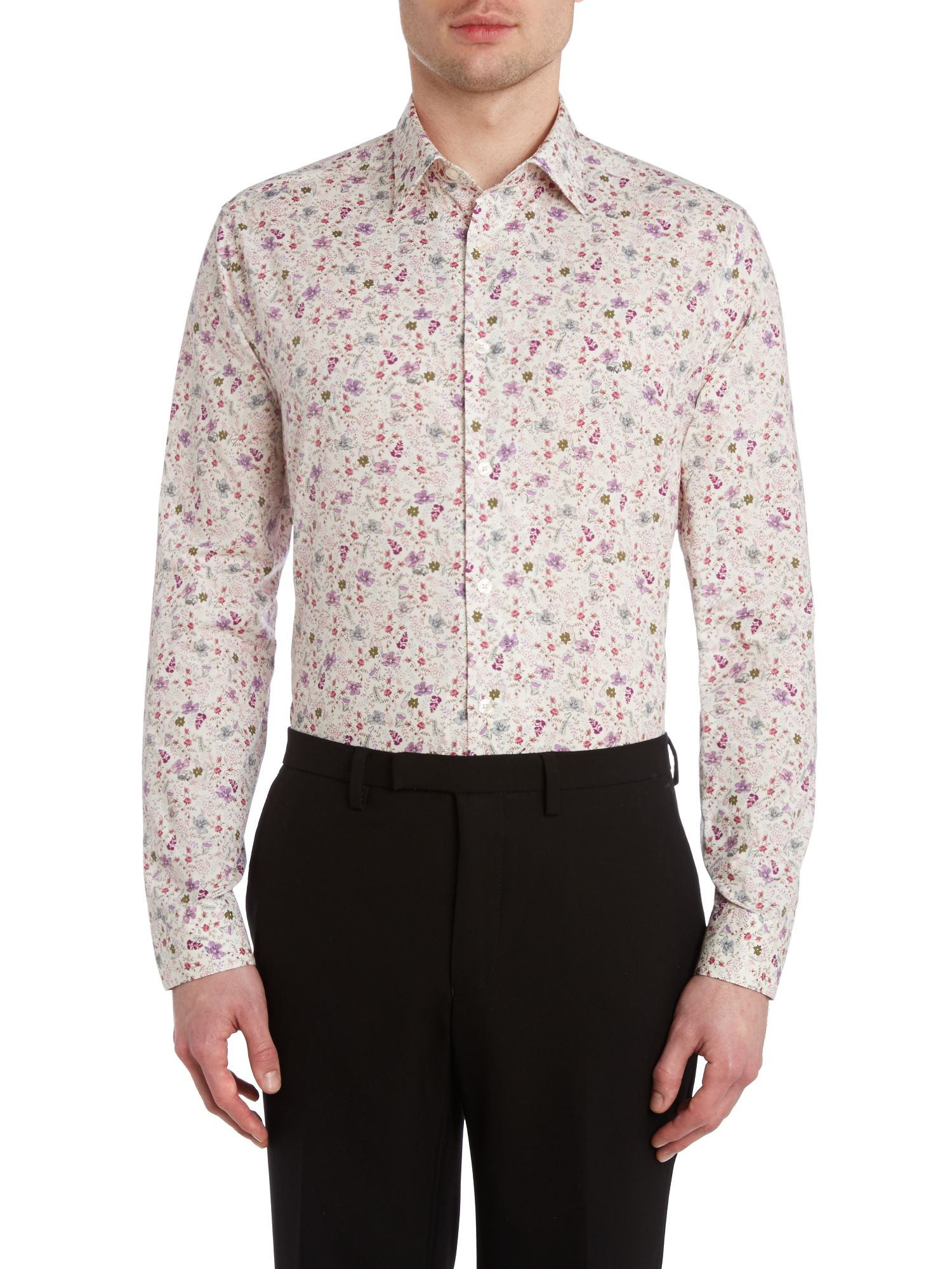 Byard floral slim fit shirt