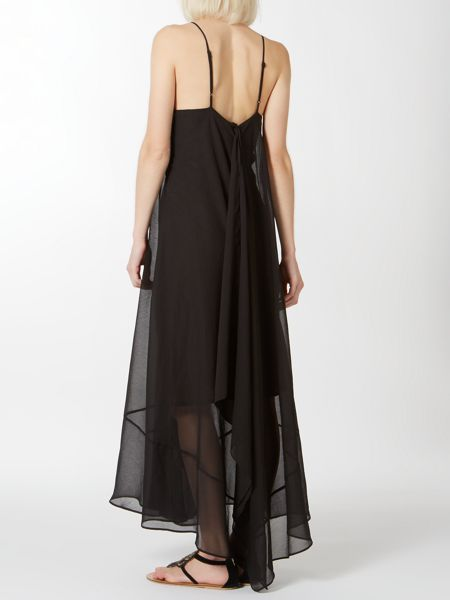 Label Lab Strappy neckline chiffon maxi dress