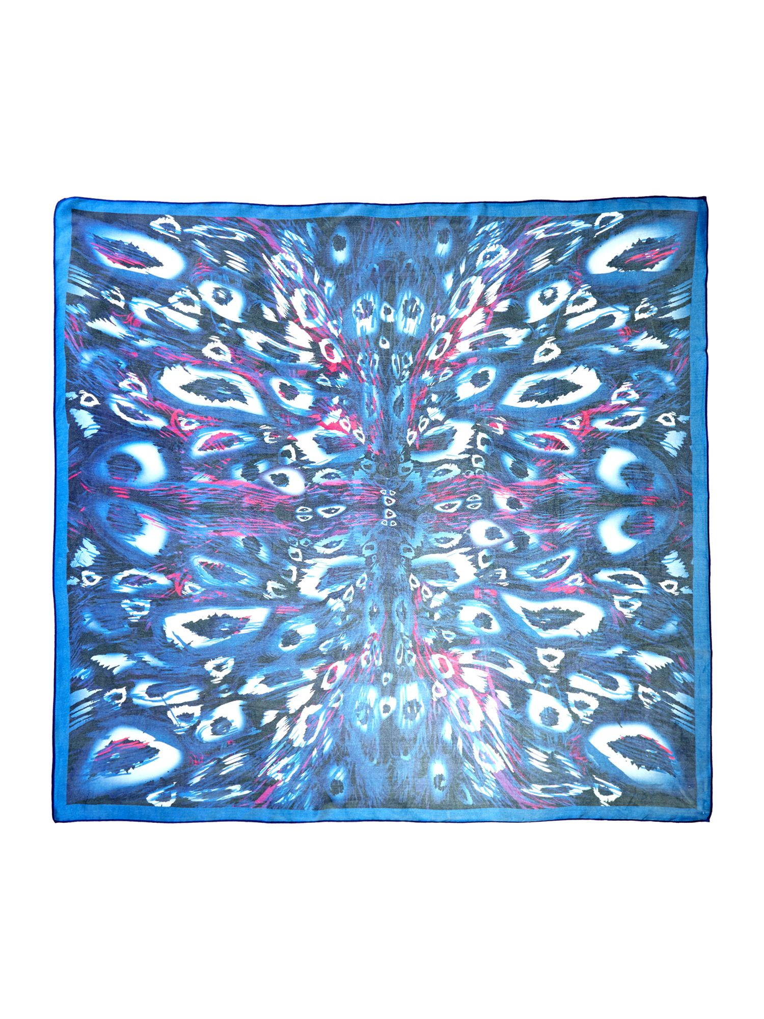 Kaleidoscope animal silk satin scarf