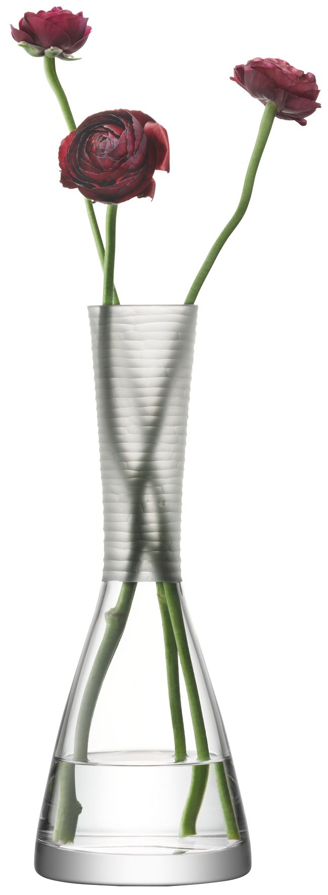 Organza matt cut vase height 30cm