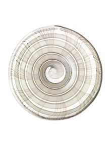 Linen platter height 35cm in taupe