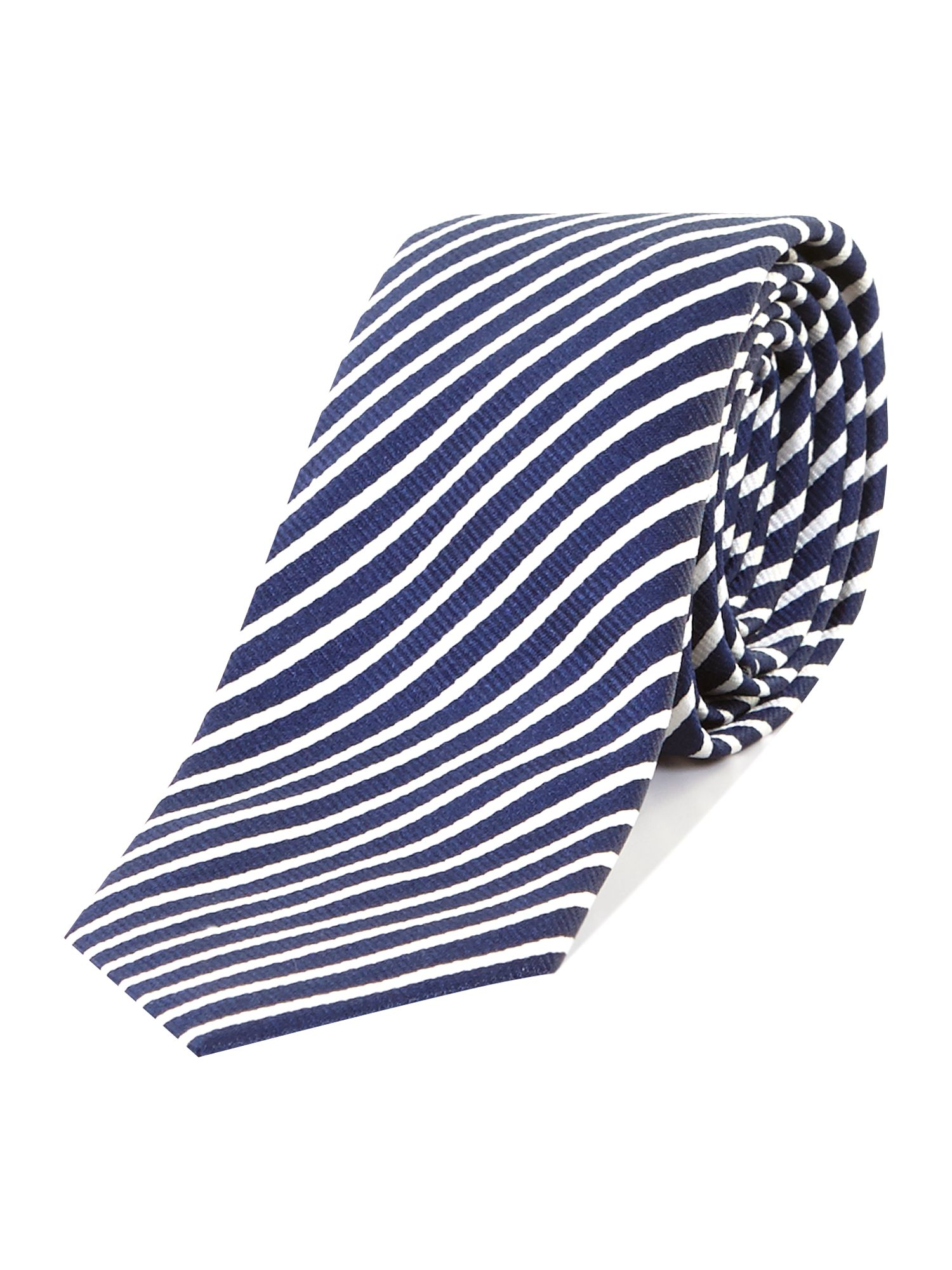 College stripe extra slim tie