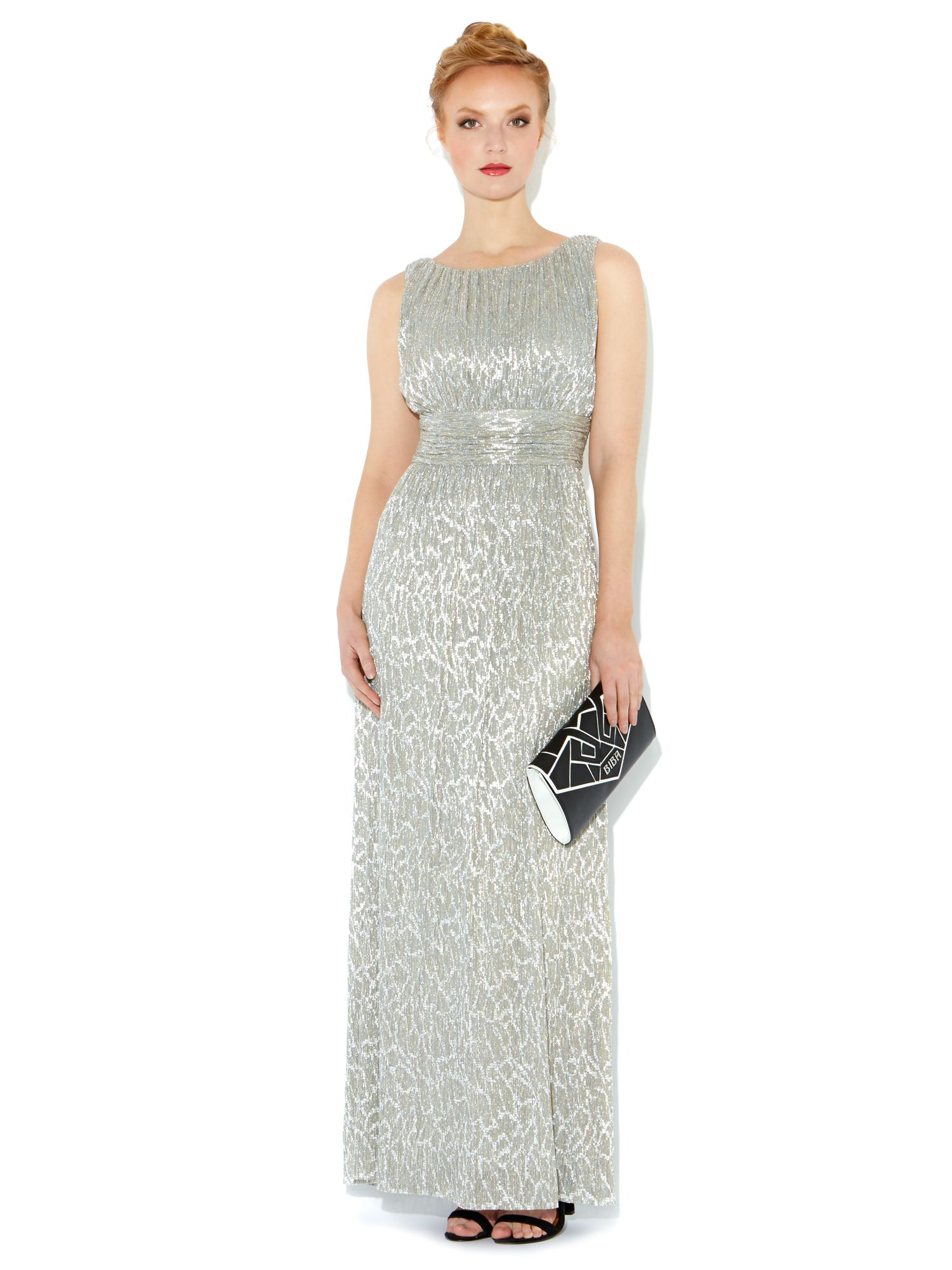 Metallic lurex maxi dress