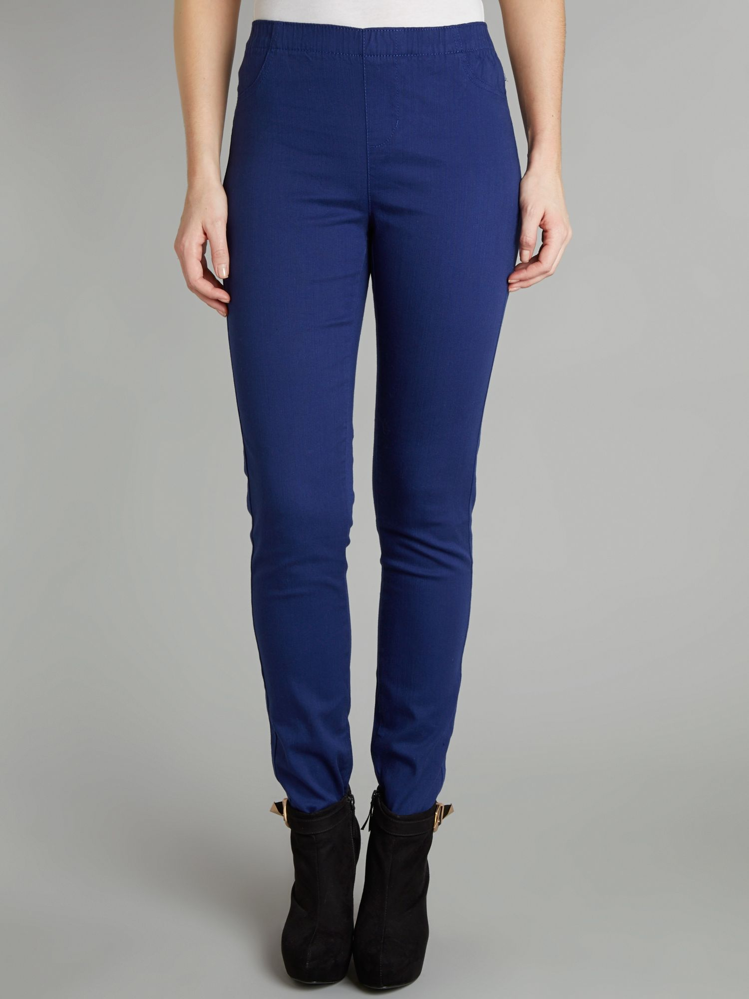 Coloured plain jeggings