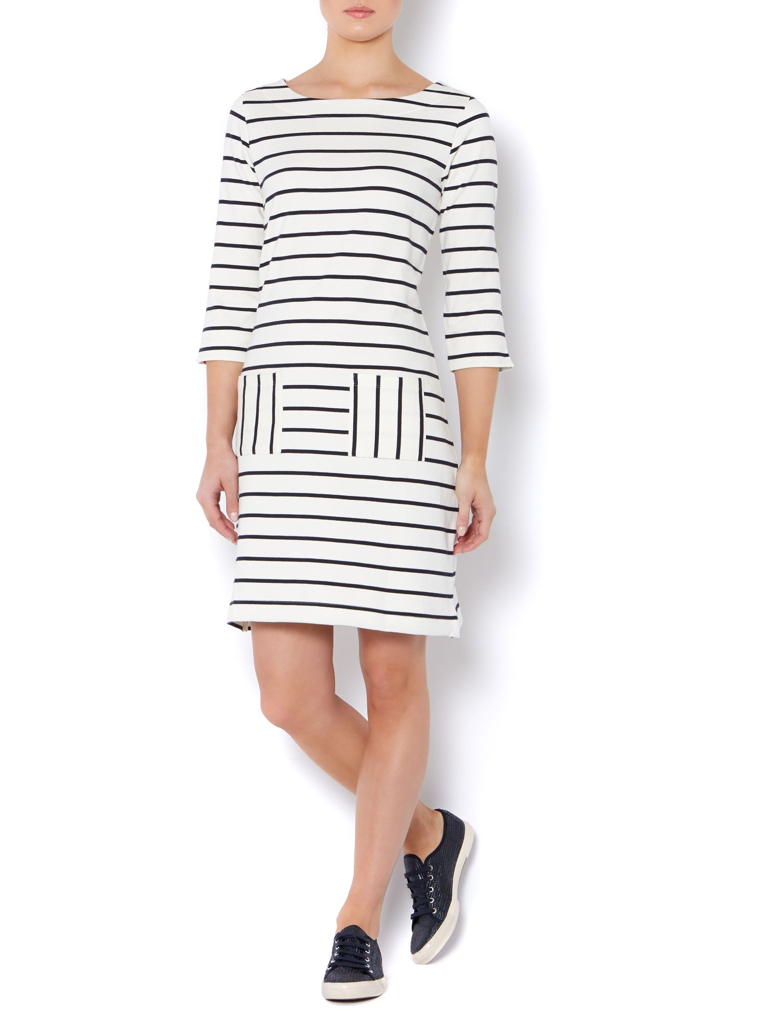 Stripe sweat tunic dress